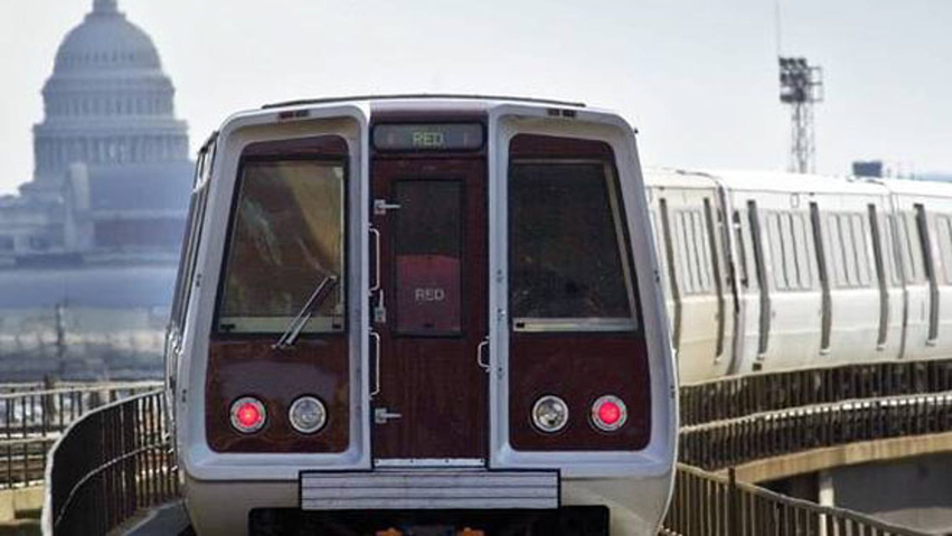 Shown here is a Red Line train on the D.C. Metro.