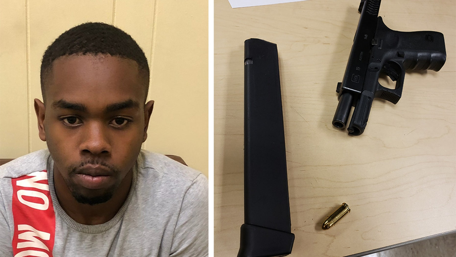 Reginald D. Wooding Jr., 22, is accused of having drugs and a loaded gun inside the vehicle he was going to use for a driver's test.
