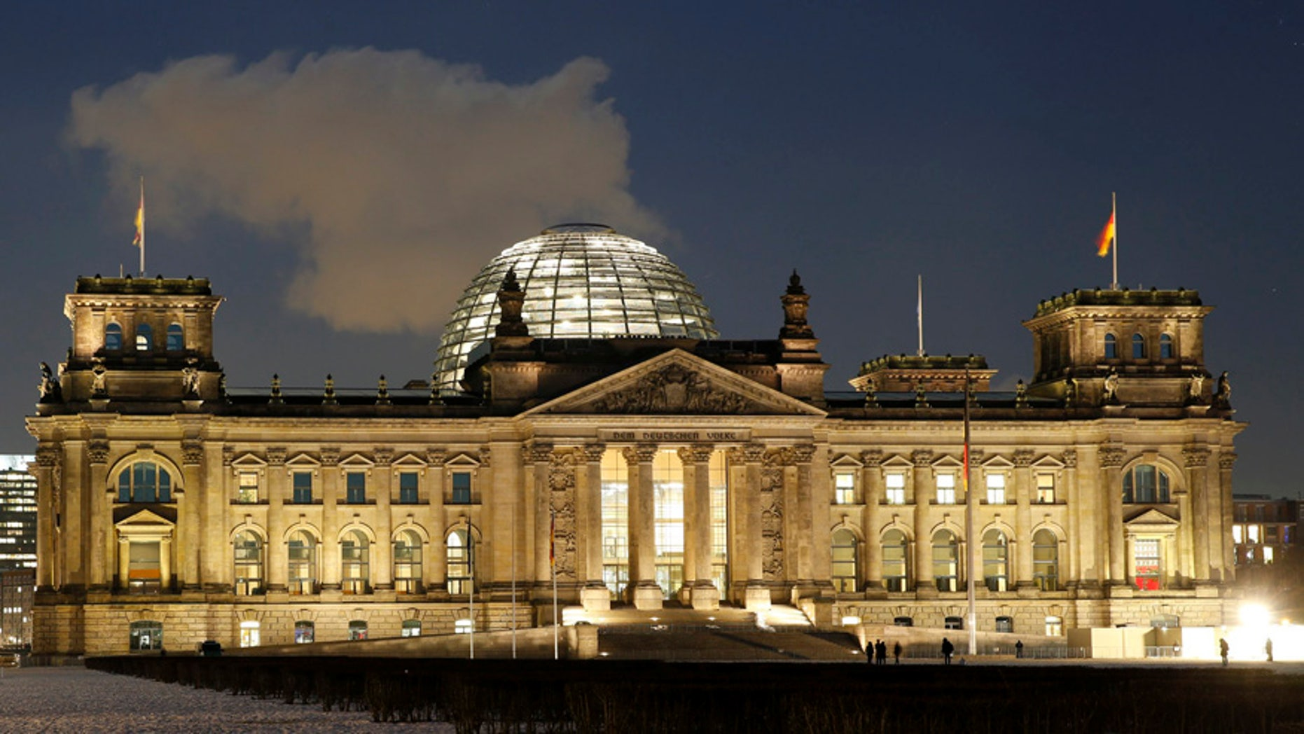 The Reichstag building in Berlin, Germany.