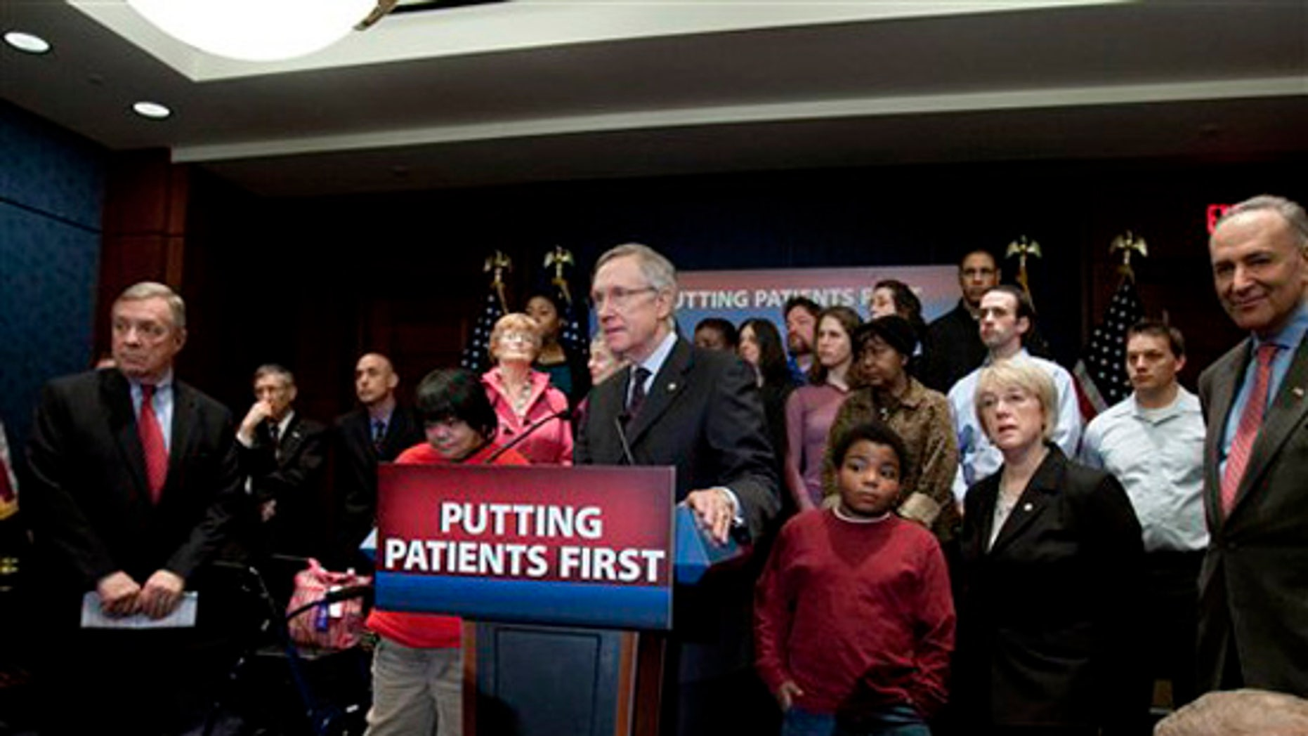 FILE: Senate Majority Leader Harry Reid, seen here in Washington on March 11, is integral to the passage of health care fixes demanded by House Democrats.(AP)