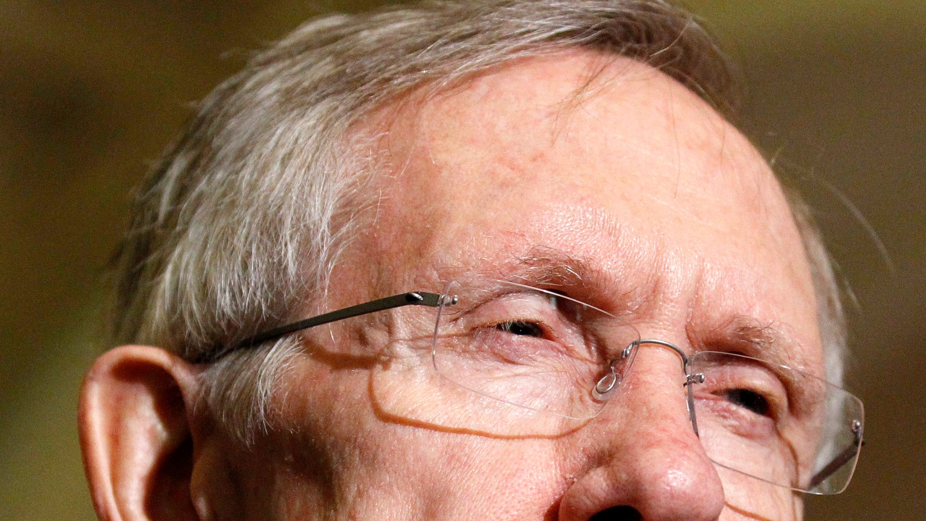 Senate Majority Leader Harry Reid of Nev., pauses while speaking with the media, after their Senate Democratic caucus, Wednesday, Dec. 8, 2010, on Capitol Hill in Washington. (AP)