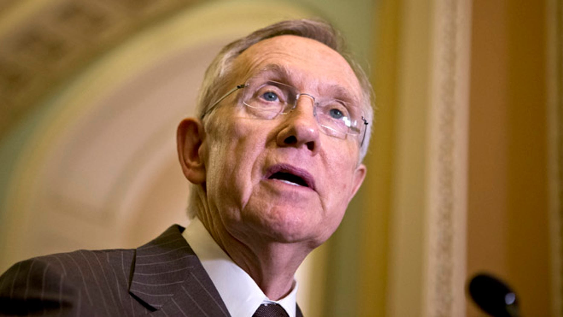 Dec. 11, 2012: Senate Majority Leader Harry Reid speaks with reporters on Capitol Hill in Washington.