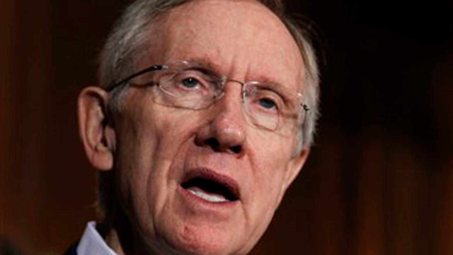 In this Aug. 5 photo, Senate Majority Leader Harry Reid speaks on Capitol Hill. (AP Photo)