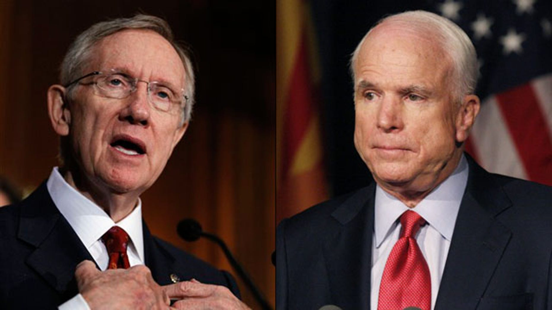 Shown here are Senate Majority Leader Harry Reid, left, and Sen. John McCain. (AP/Reuters Photos)