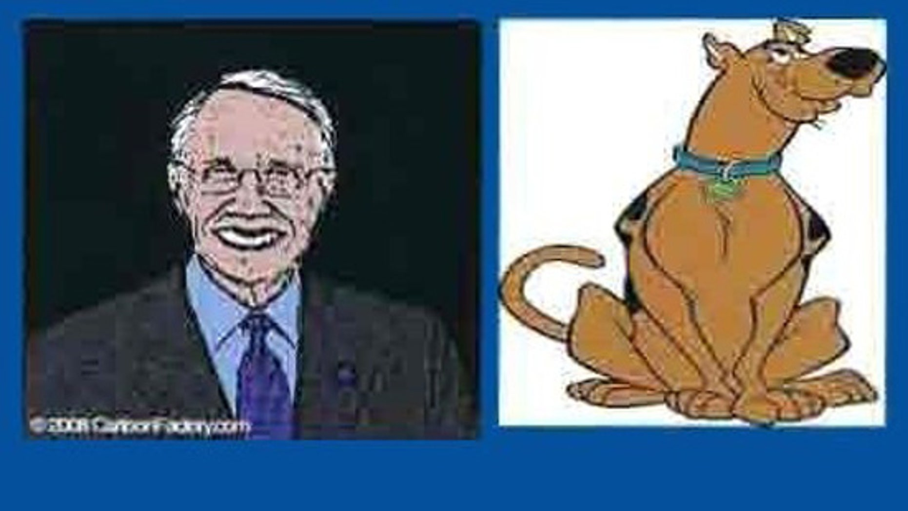 Senate Majority Leader Harry Reid was caricatured as Scooby Doo in a recent controversial Republican pitch to top fundraisers. (FNC)