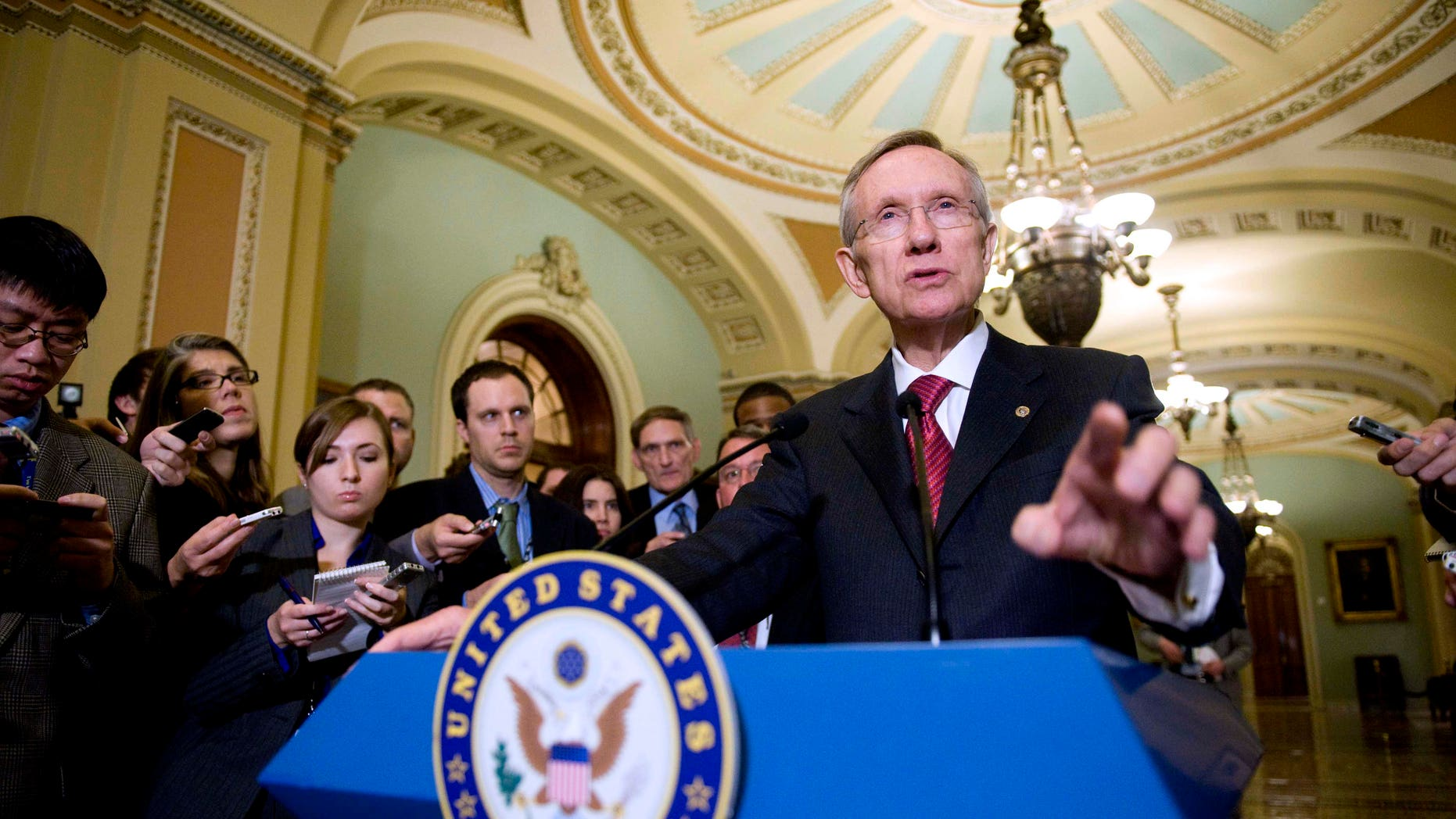Bush tax-cuts are the priority for the lame-duck Congress, which returned Nov. 29. Senate Majority Leader Harry Reid, shown here Nov. 18 on Capitol Hill, has suggested that the Senate hold two votes: one on the Democratic plan confining the tax cut extension to the middle class, the other on Republican leader Mitch McConnell's plan to extend the cuts to everyone.