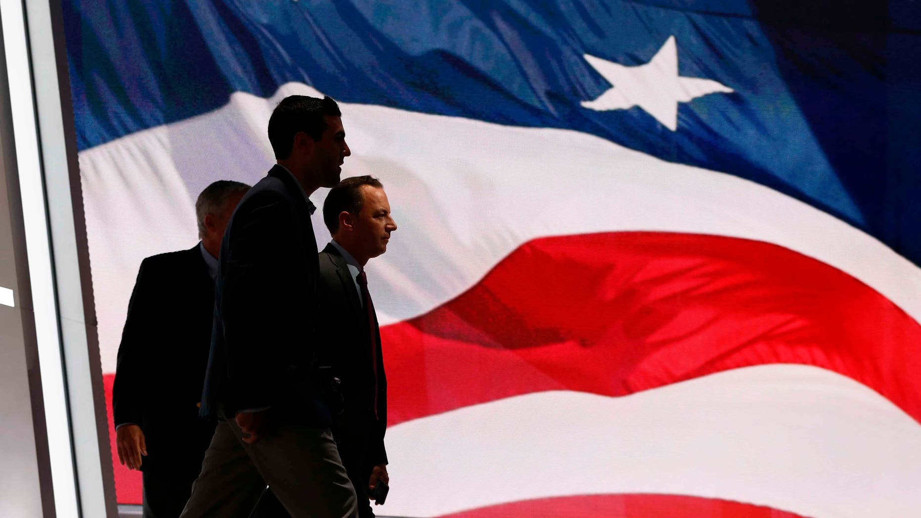 Chairman of the RNC Reince Priebus, inside Quicken Loans Arena, Sunday, July 17, 2016, in Cleveland.