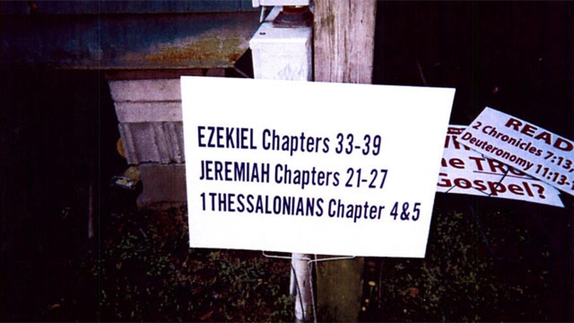 One of seven signs Oscar Moultrie was forced to remove from his yard after Berkeley County told him he needed a permit and to pay $25 per sign if he wanted to keep them up.