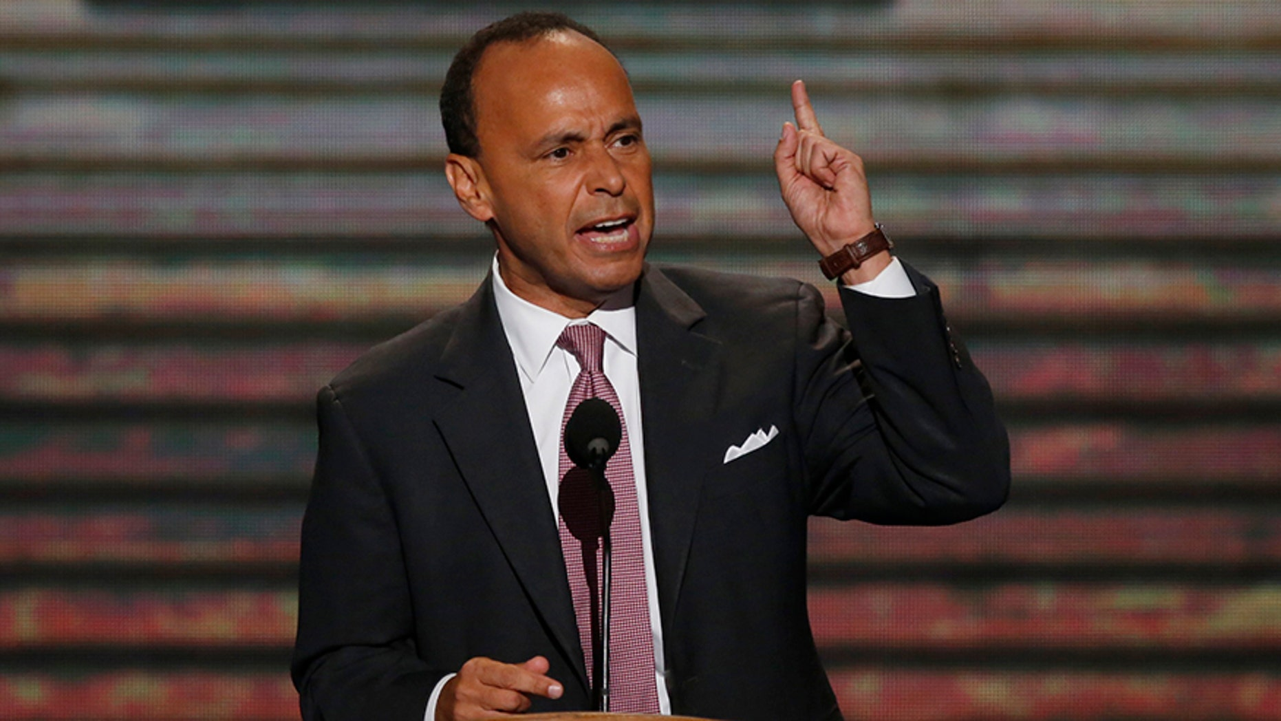 U.S. Rep. Luis Gutierrez (D-IL) addresses delegates during the second session of the Democratic National Convention in Charlotte, North Carolina, September 5, 2012.