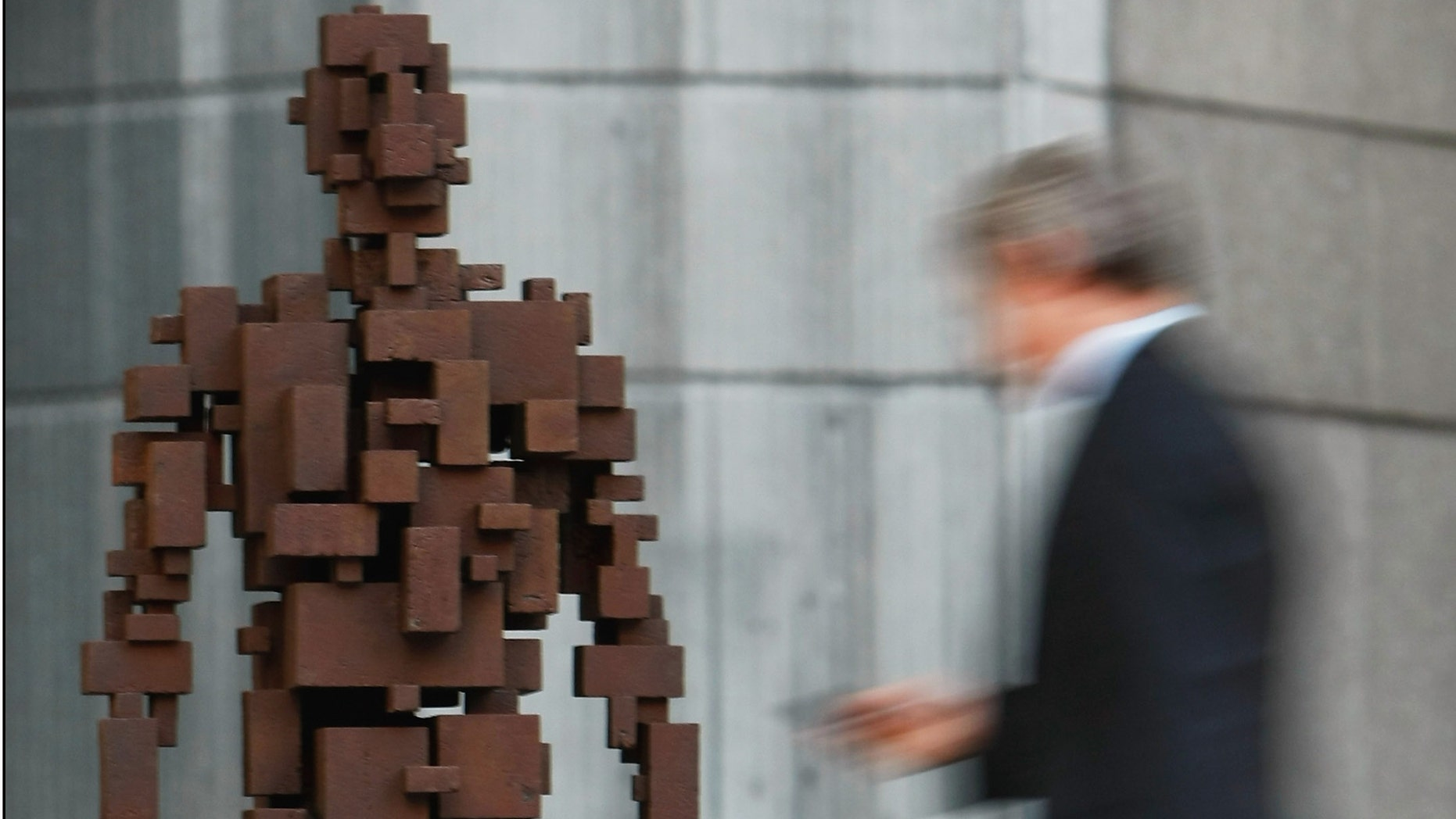 Artist Antony Gormley's sculpture called Resolution, which is in London, England.