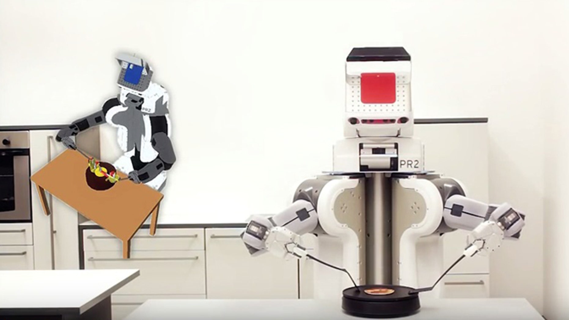 This robot knows how to cook a pancake.