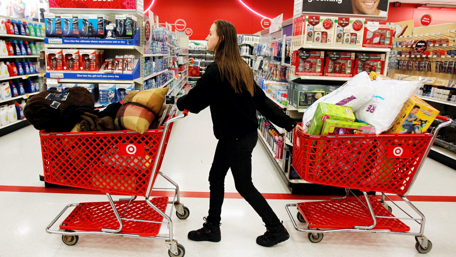 Do your shopping carts look like this after a few hours at Target?