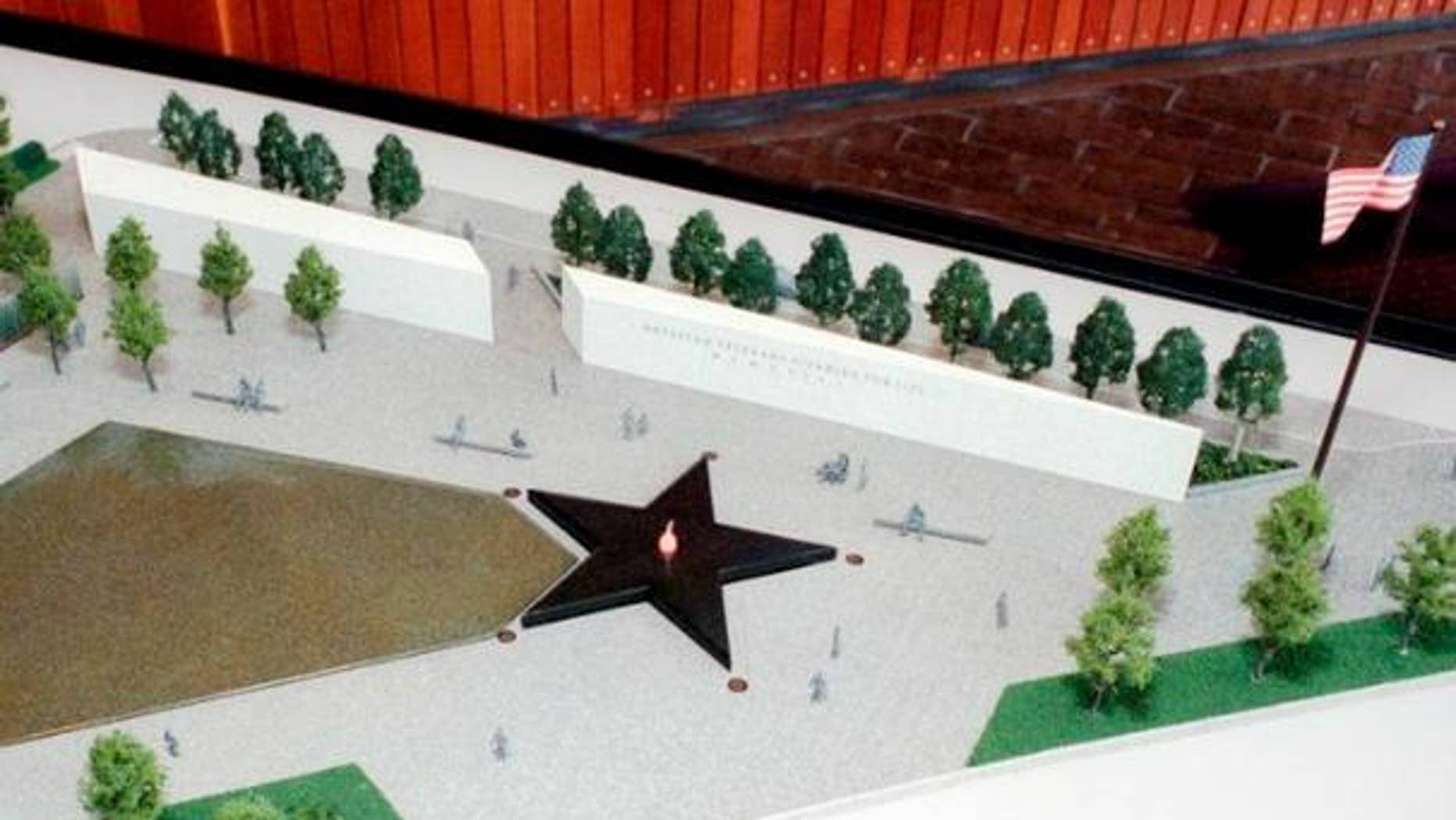 A rendering of the proposed memorial