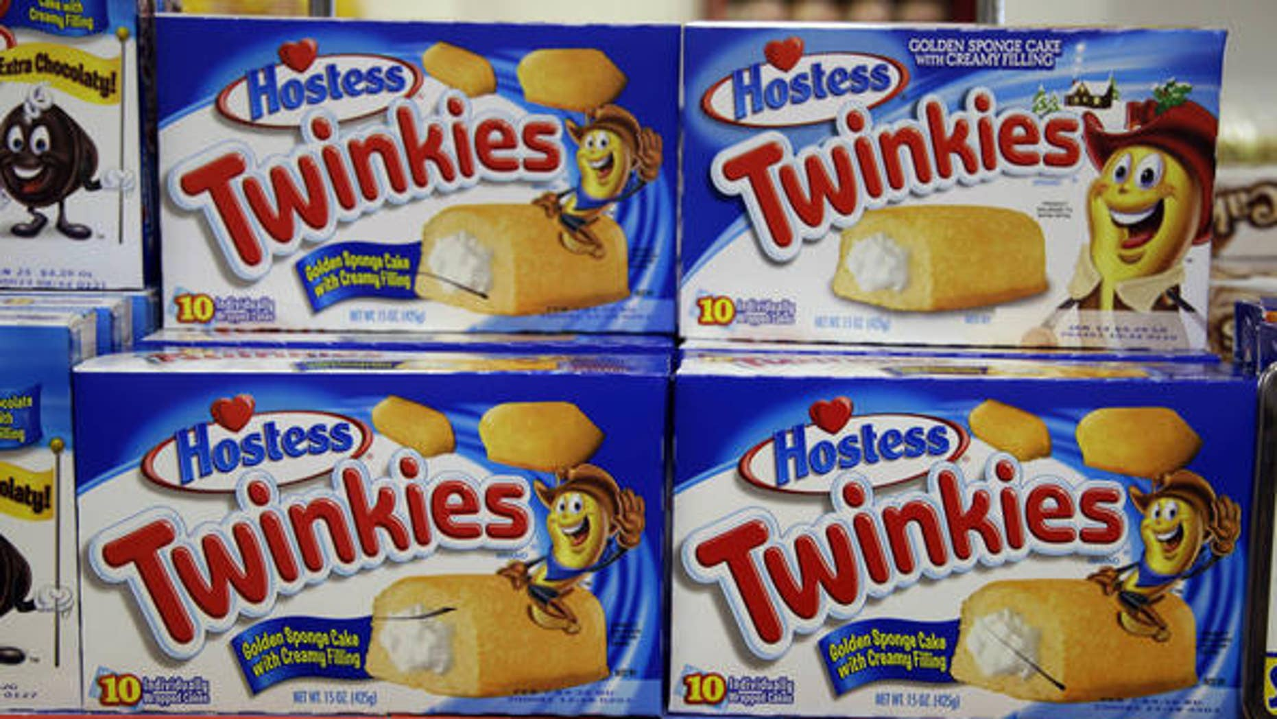 Twinkies on display in a grocery store in 2012.