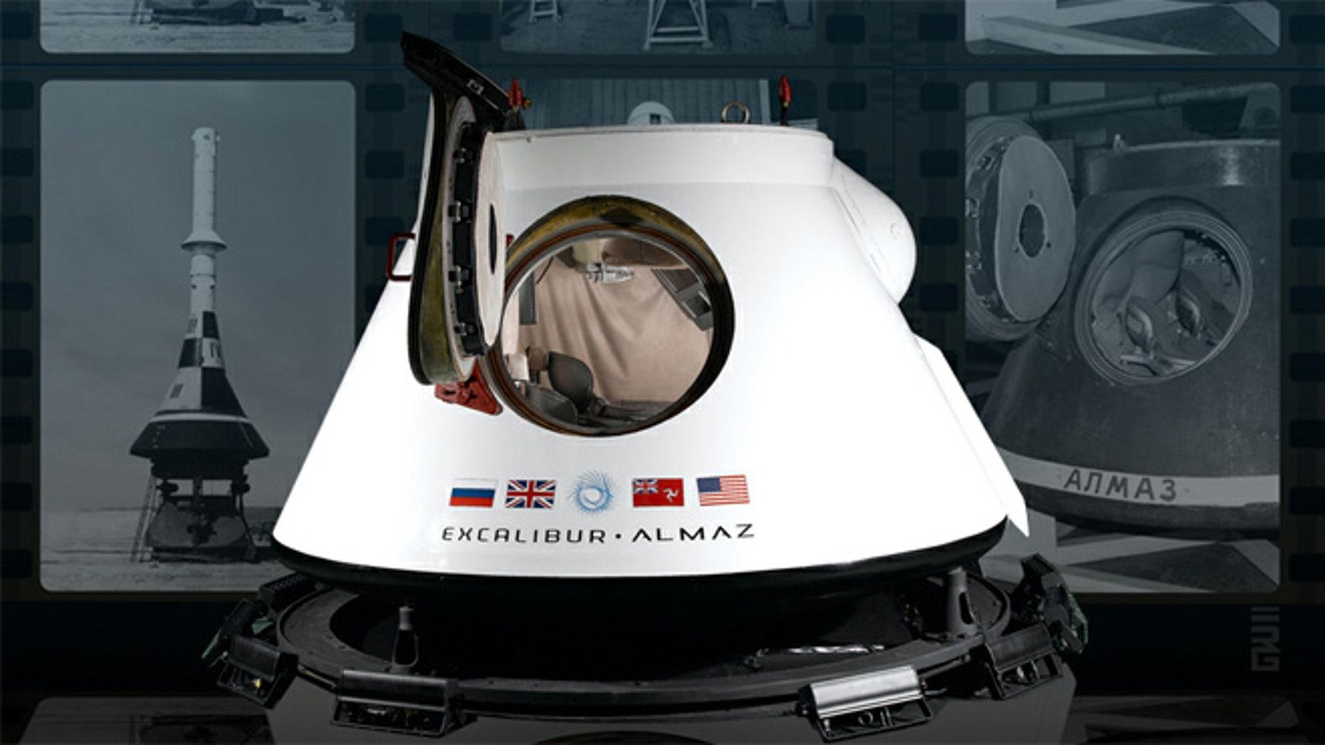 Excalibur Almaz's reusable return vehicle.