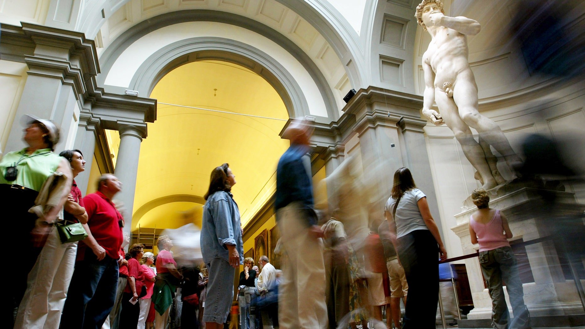 Michelangelo's David is housed at the Galleria Dell'Accademia in Florence, Italy.