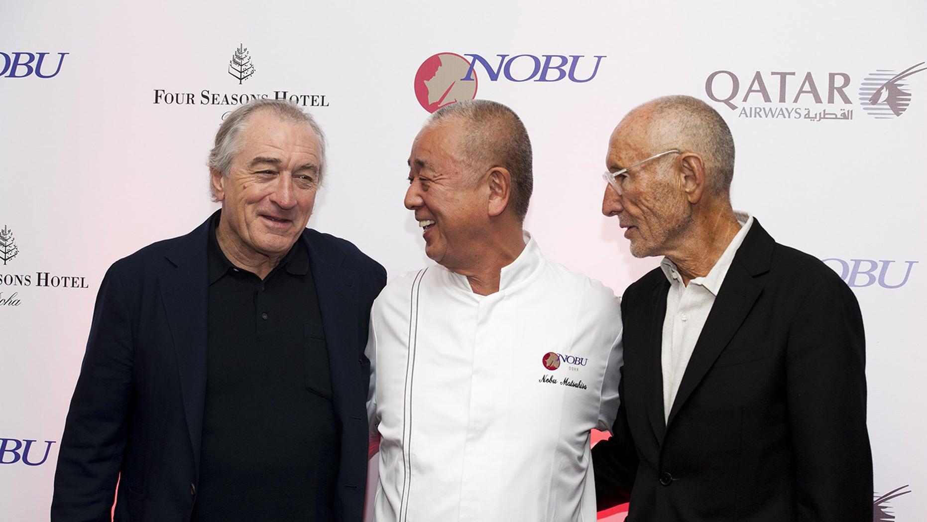 Robert De Niro attends the opening of Nobu's new restaurant in Doha, Qatar.