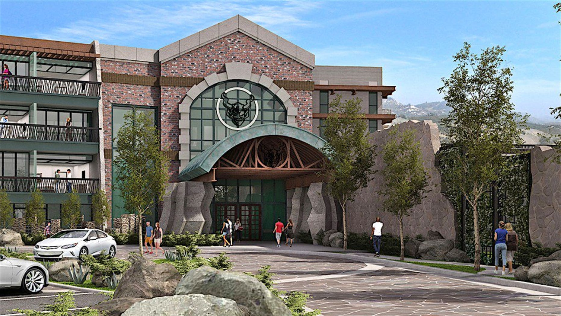 A rendering of the brewery's proposed craft beer themed hotel.