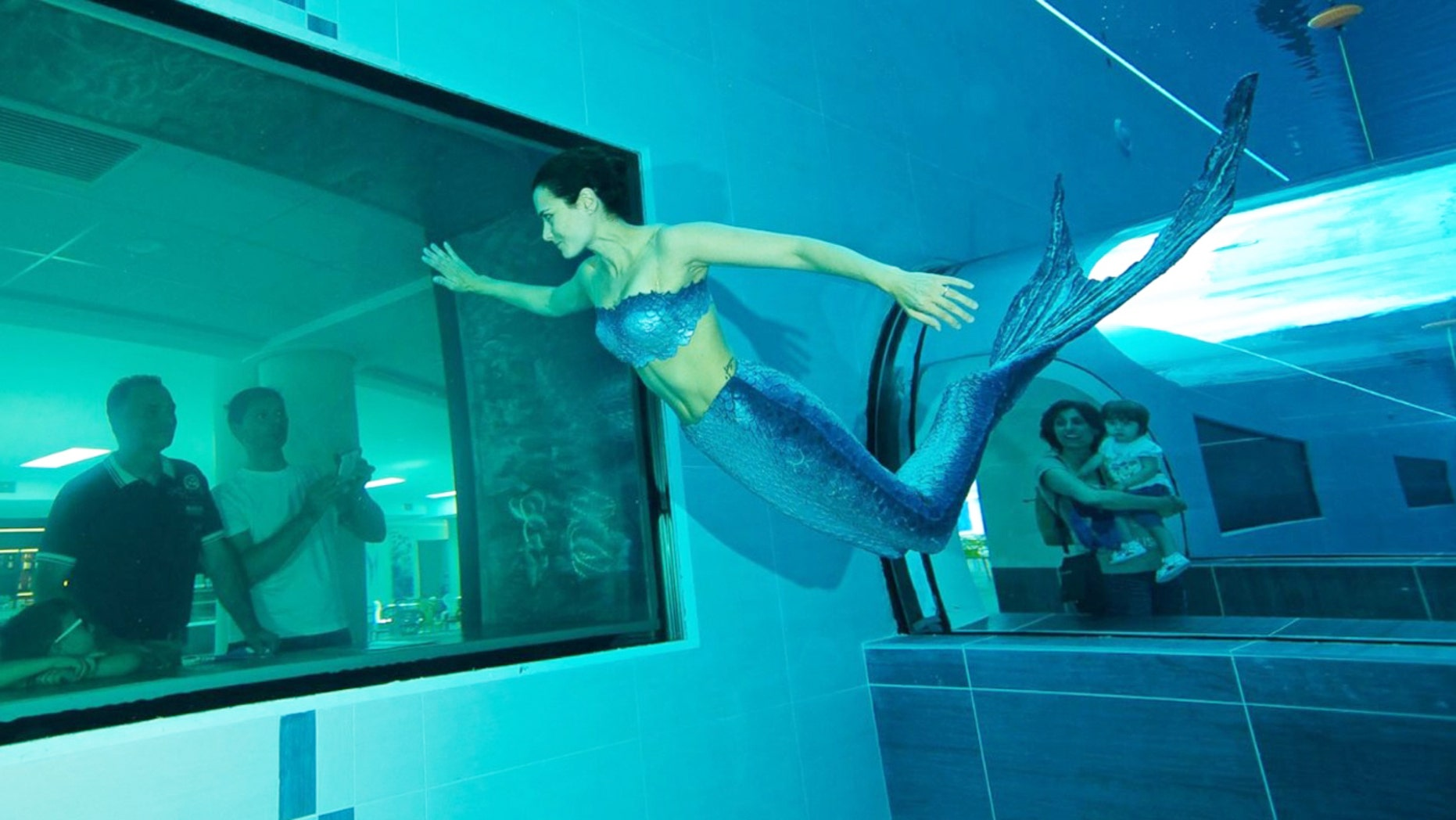 Mermaids frequent the deepest waters at this Italian aquatic park.