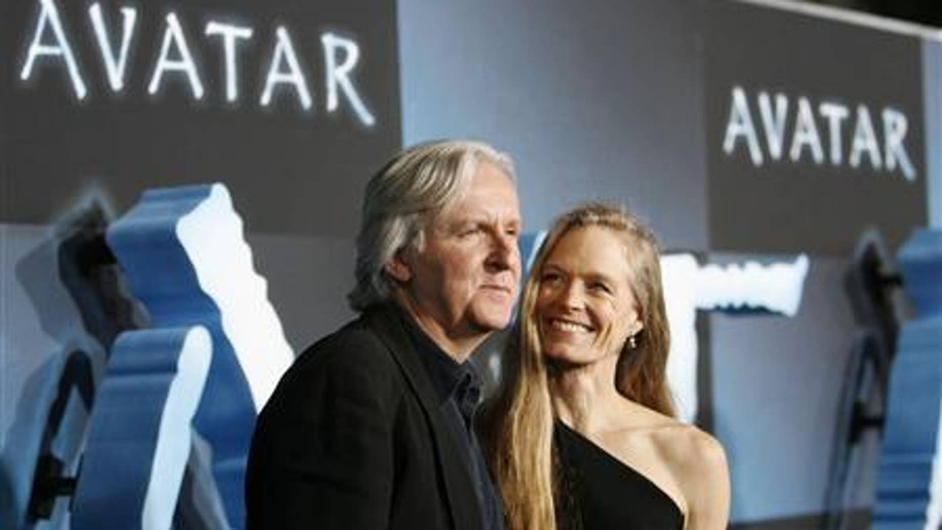 James Cameron and Suzy Amis at the premiere of 'Avatar.'