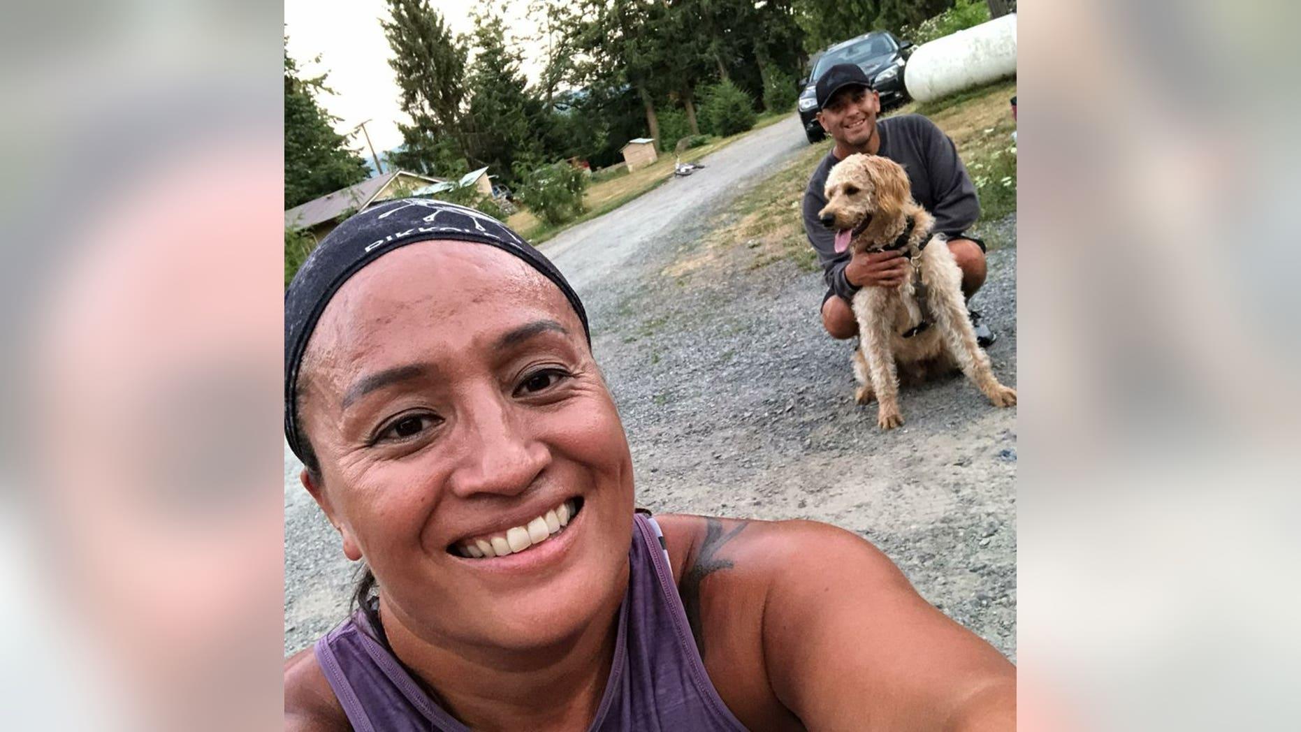 Lona and Joseph Johnson, two survivors from the Las Vegas shooting, say their neighbor killed their comfort dog, Jax.