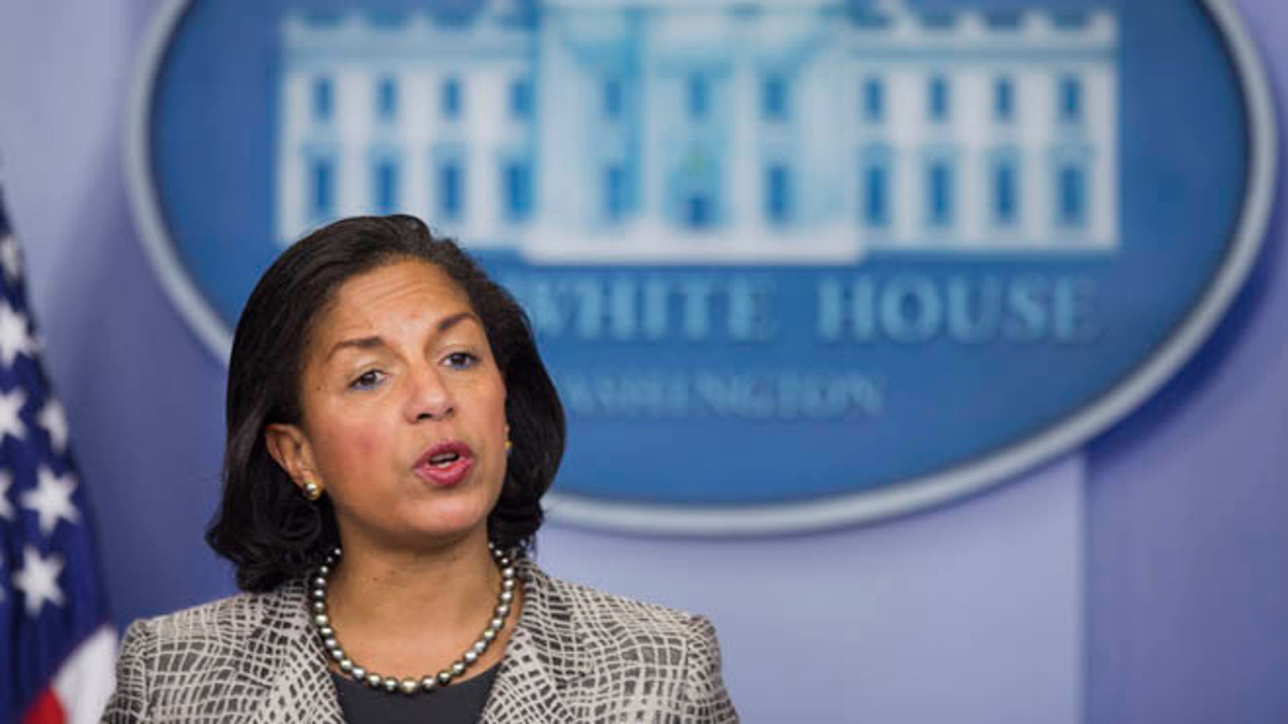 March 21, 2014: National Security Adviser Susan Rice speaks at the White House.