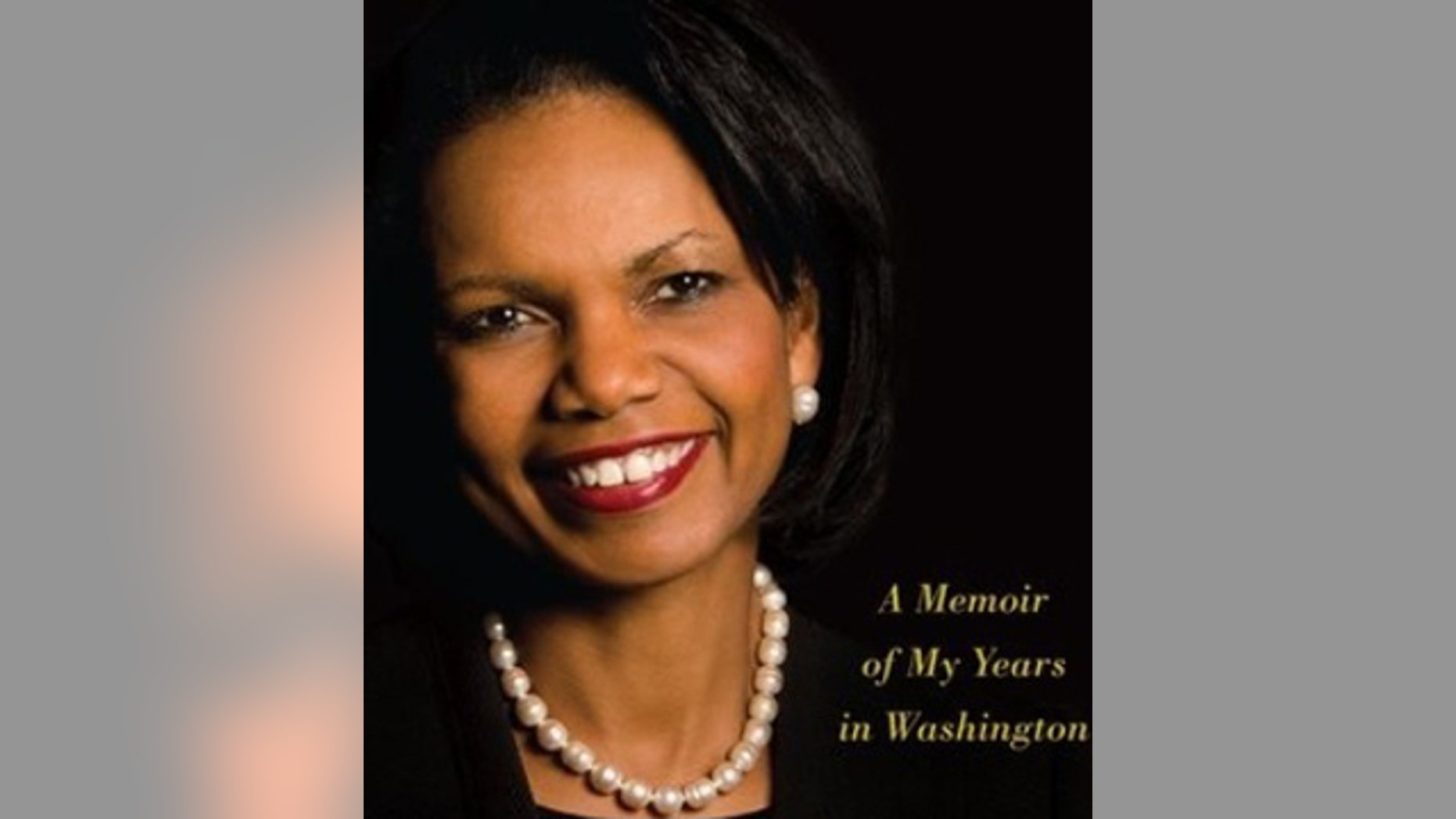 "Former Secretary of State Condoleezza Rice on the cover of her new book ""No Higher Honor: A Memoir of My Years in Washington."""