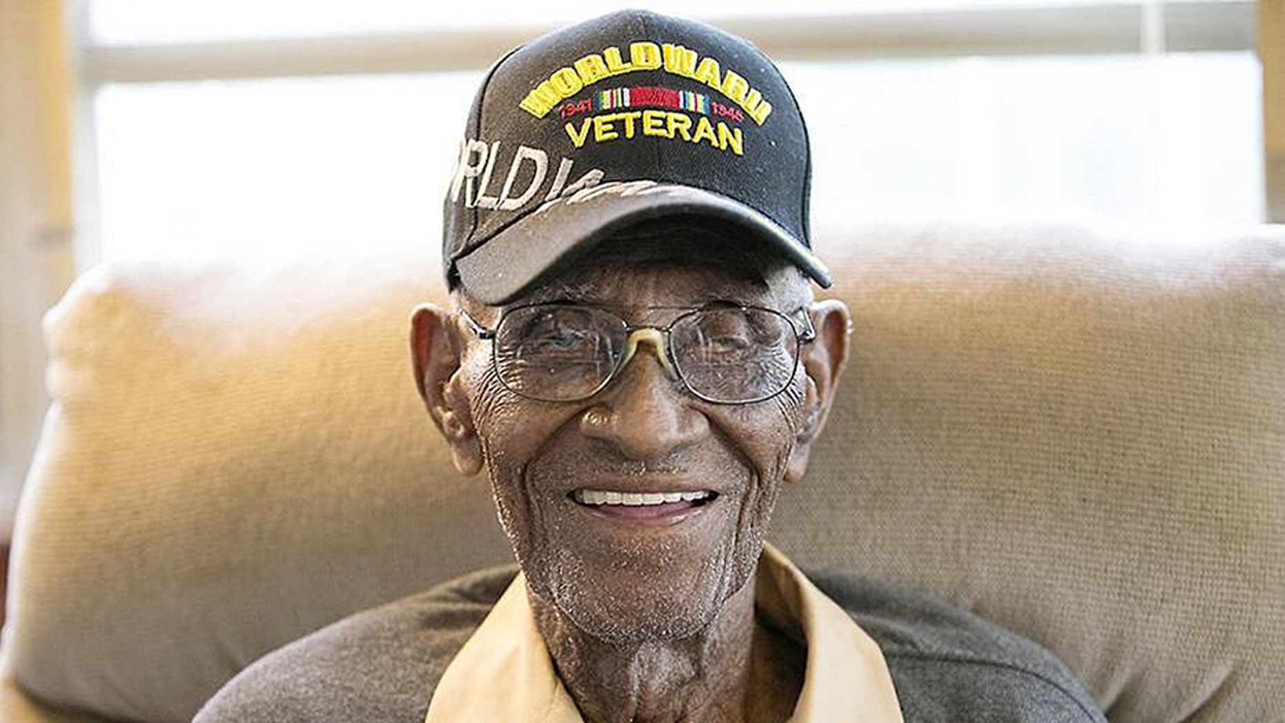 The country's oldest WWII veteran, who turns 112 next month, got a surprise ride on a private jet to visit the National Museum of African American History and Culture.