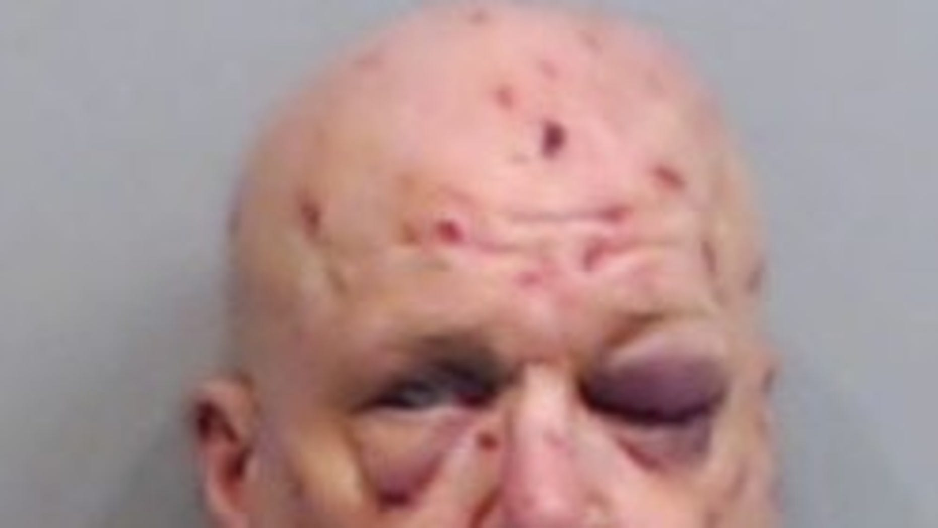 Rick Painter, 54, was arrested after he allegedly attacked his food delivery driver on Saturday.