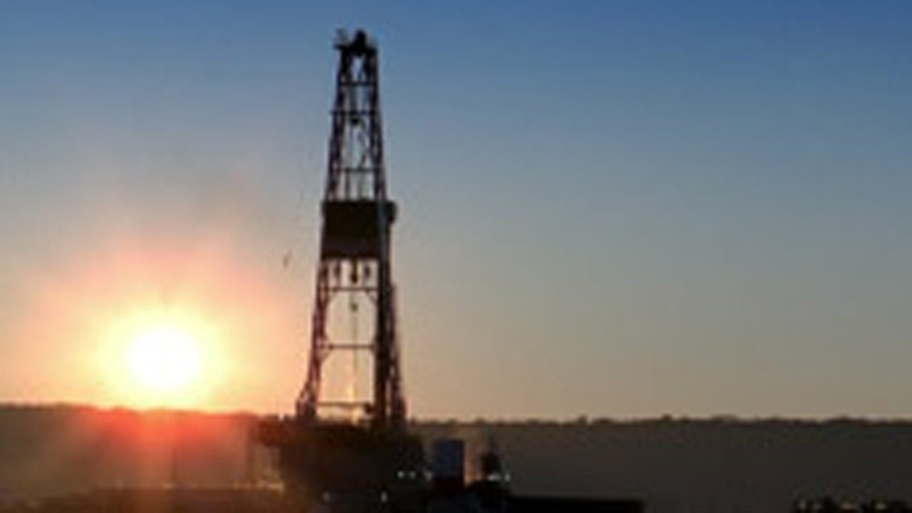 Shown here is a North Dakota oil rig.