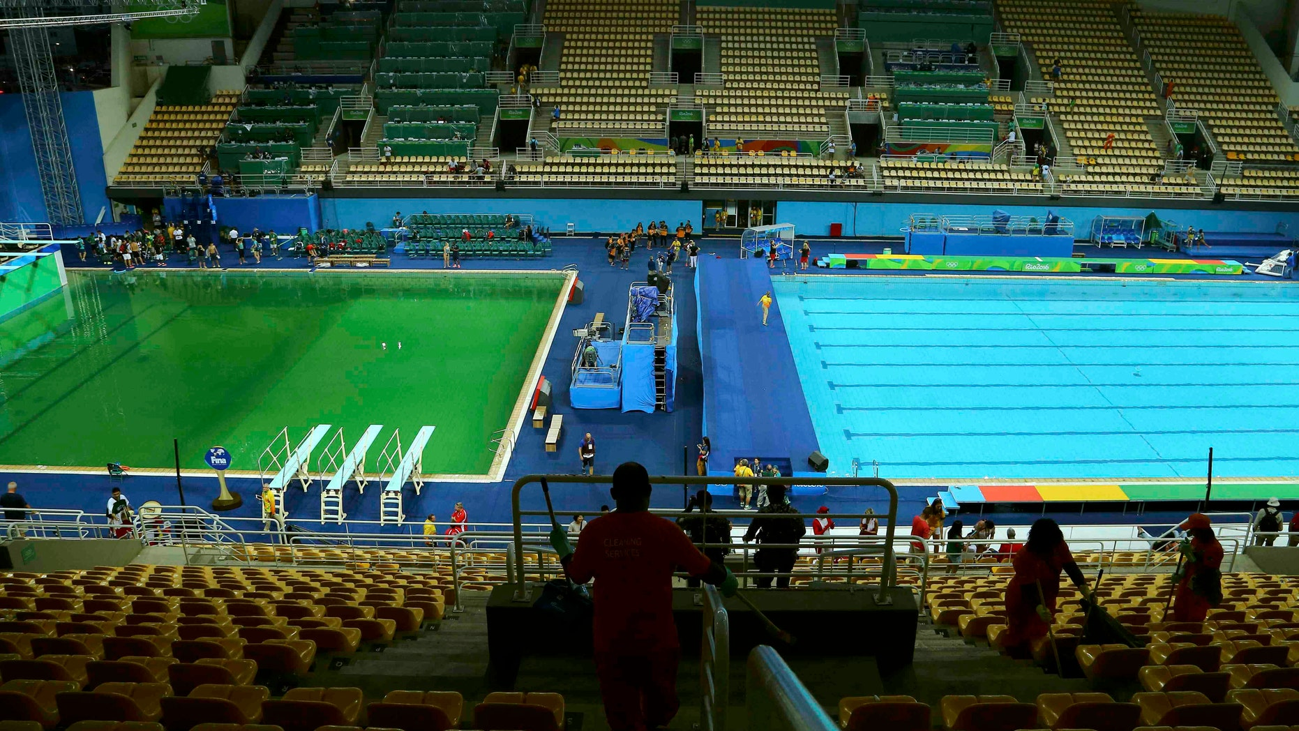 Green Olympics: Algae turns Rio pool a strange color | Fox News