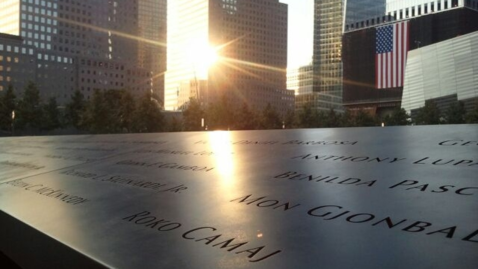 Roko Camaj name on the 9/11 Memorial in New York City.
