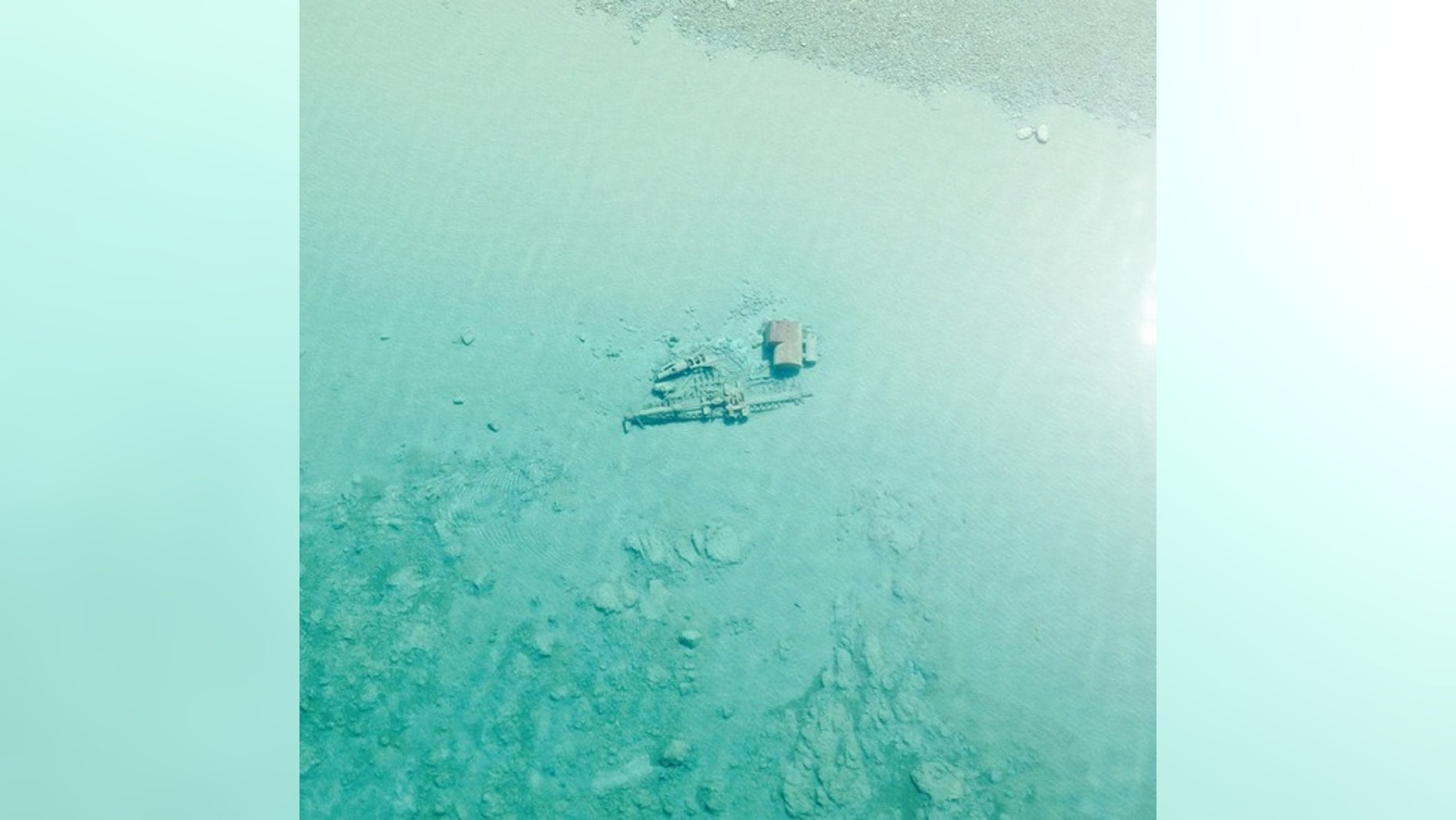 The wreck of the Rising Sun rests in 6-12 feet of water.