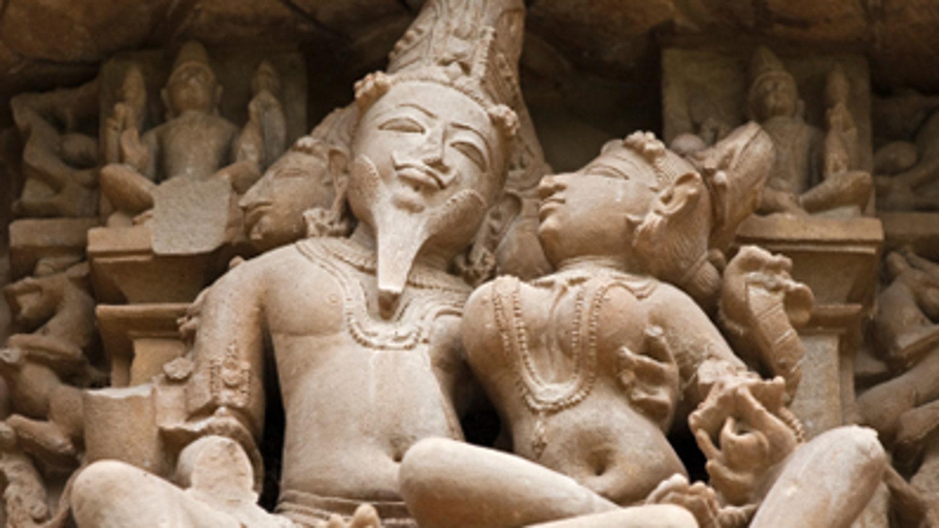 The statues of Khajuraho
