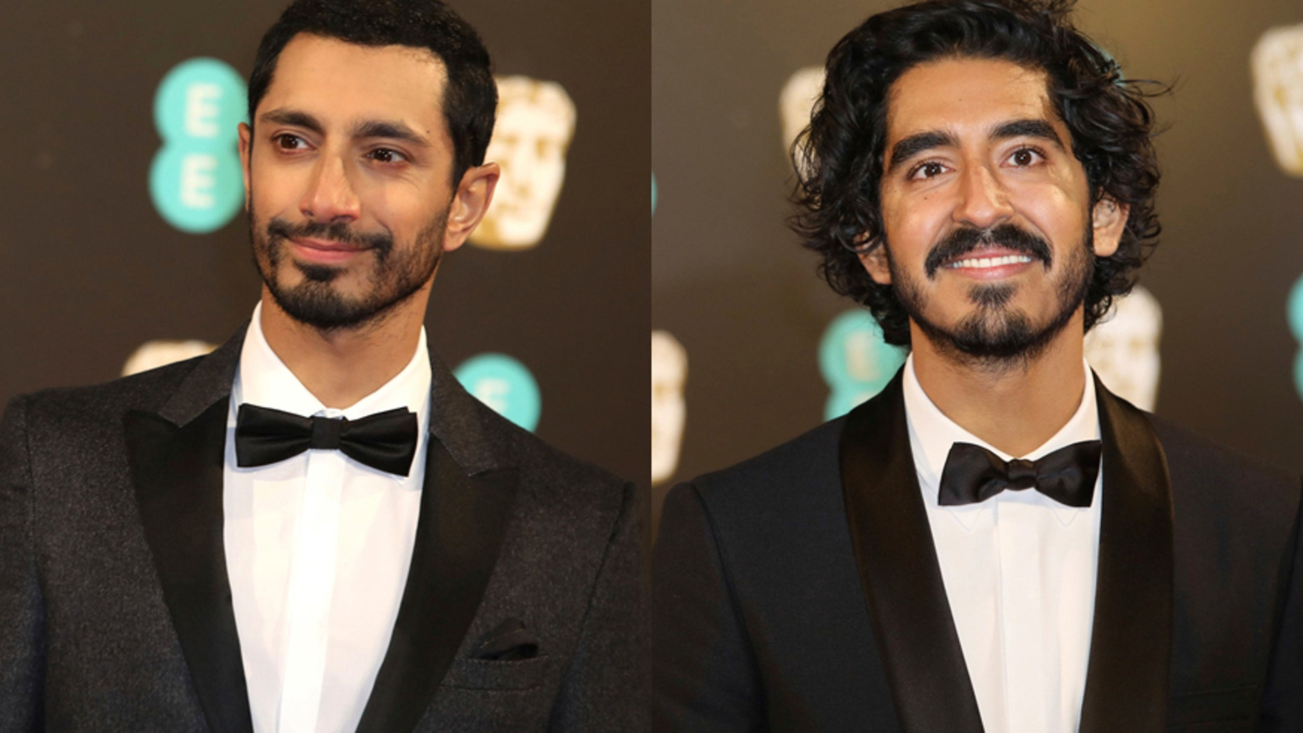 British rapper and actor Riz Ahmed (left) and actor Dev Patel.
