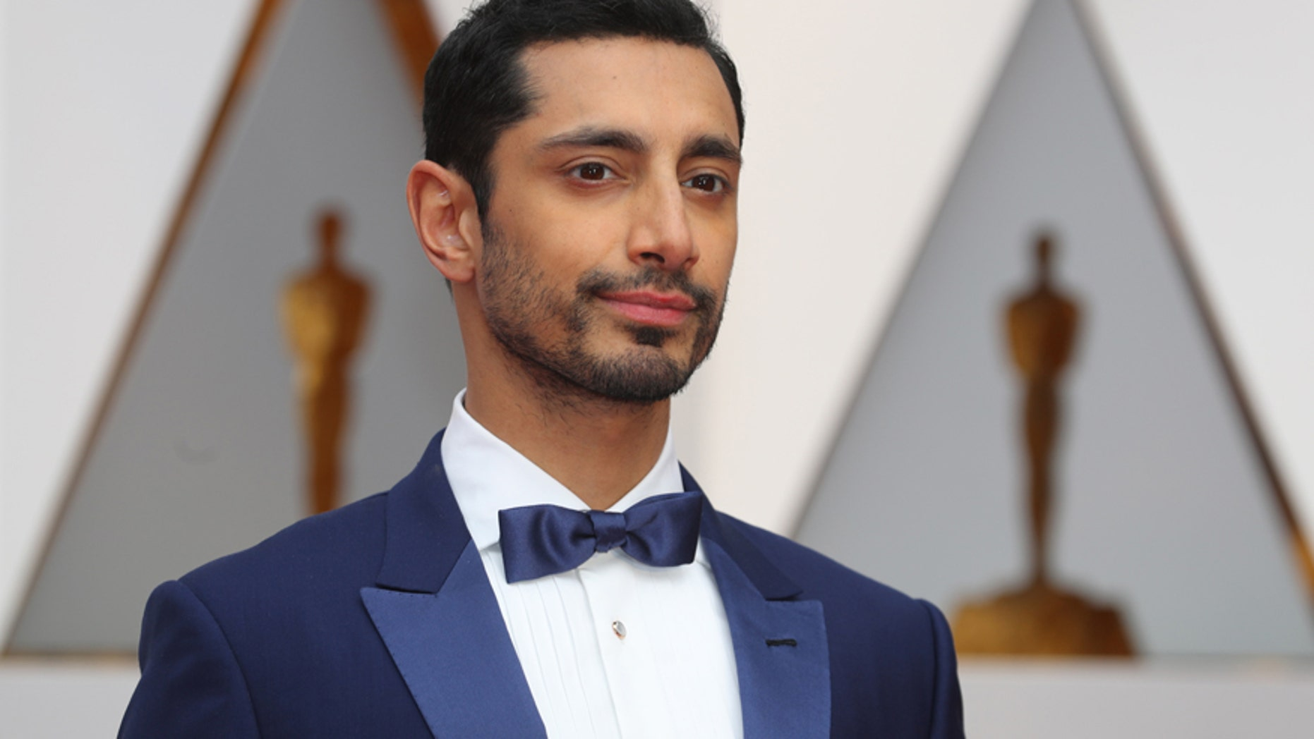 Actor Riz Ahmed arrives at the 89th Academy Awards in Hollywood, California on Feb. 26, 2017.