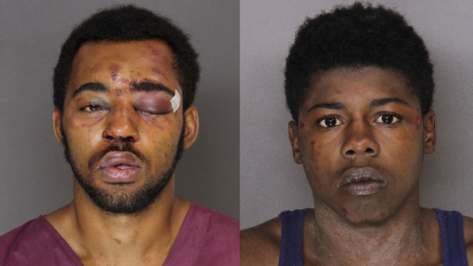 Tyree McCoy, left, and Joseph McInnis III were arrested for an alleged attempted robbery.