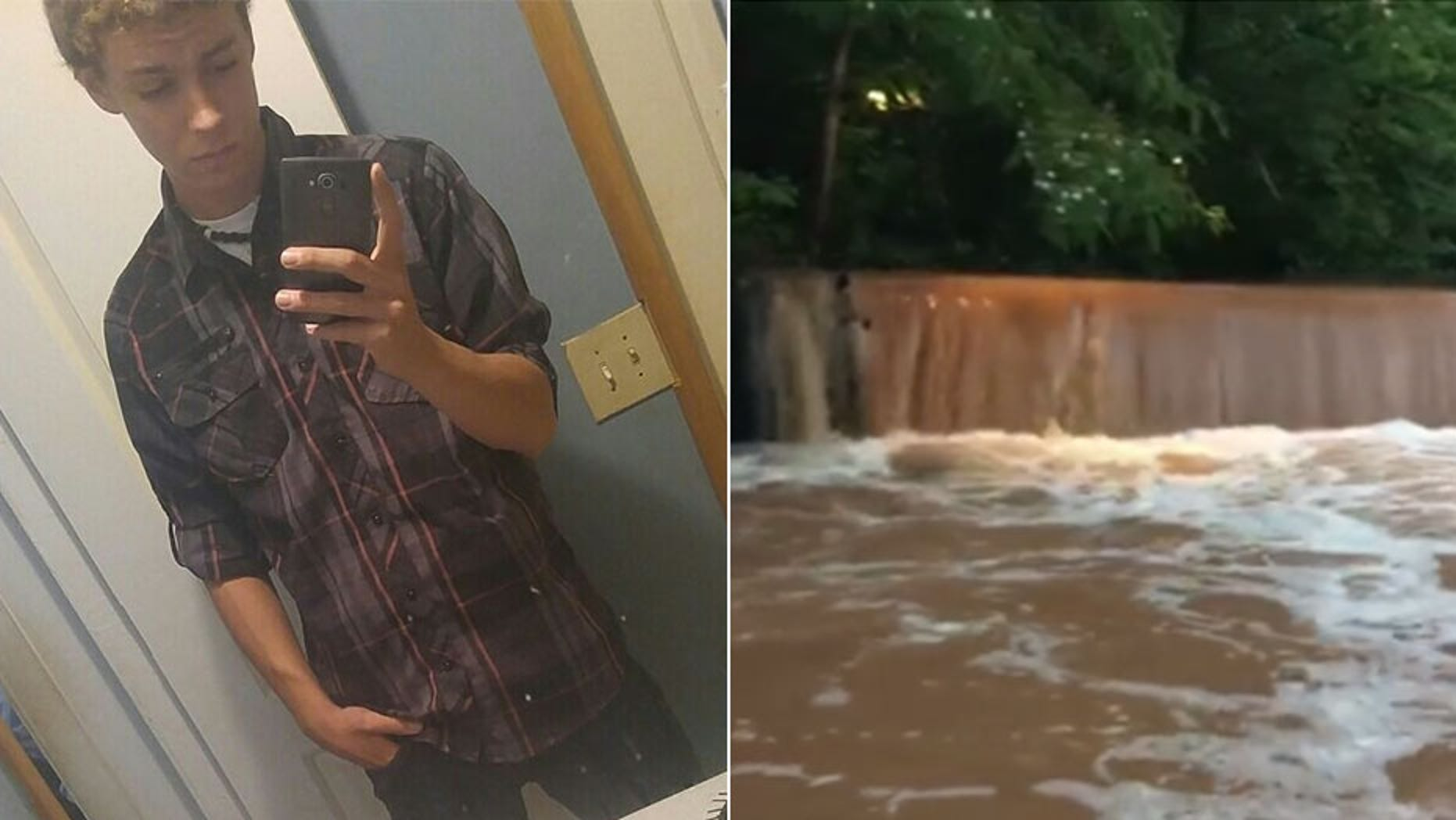 "Robert ""Bryant"" Wade, left, is one of two Georgia teens feared to be dead after falling into an overflowing creek in Athens on Friday."