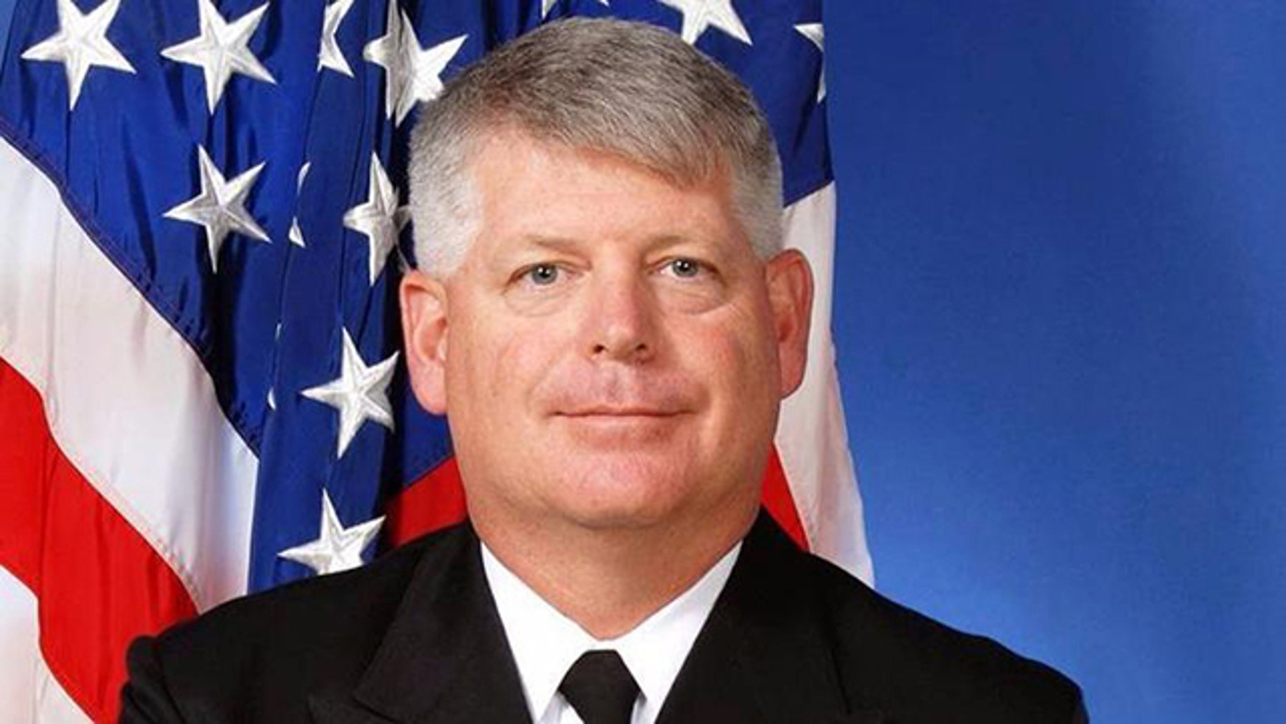 U.S. Navy Rear Admiral Robert Gilbeau is seen in this undated photo