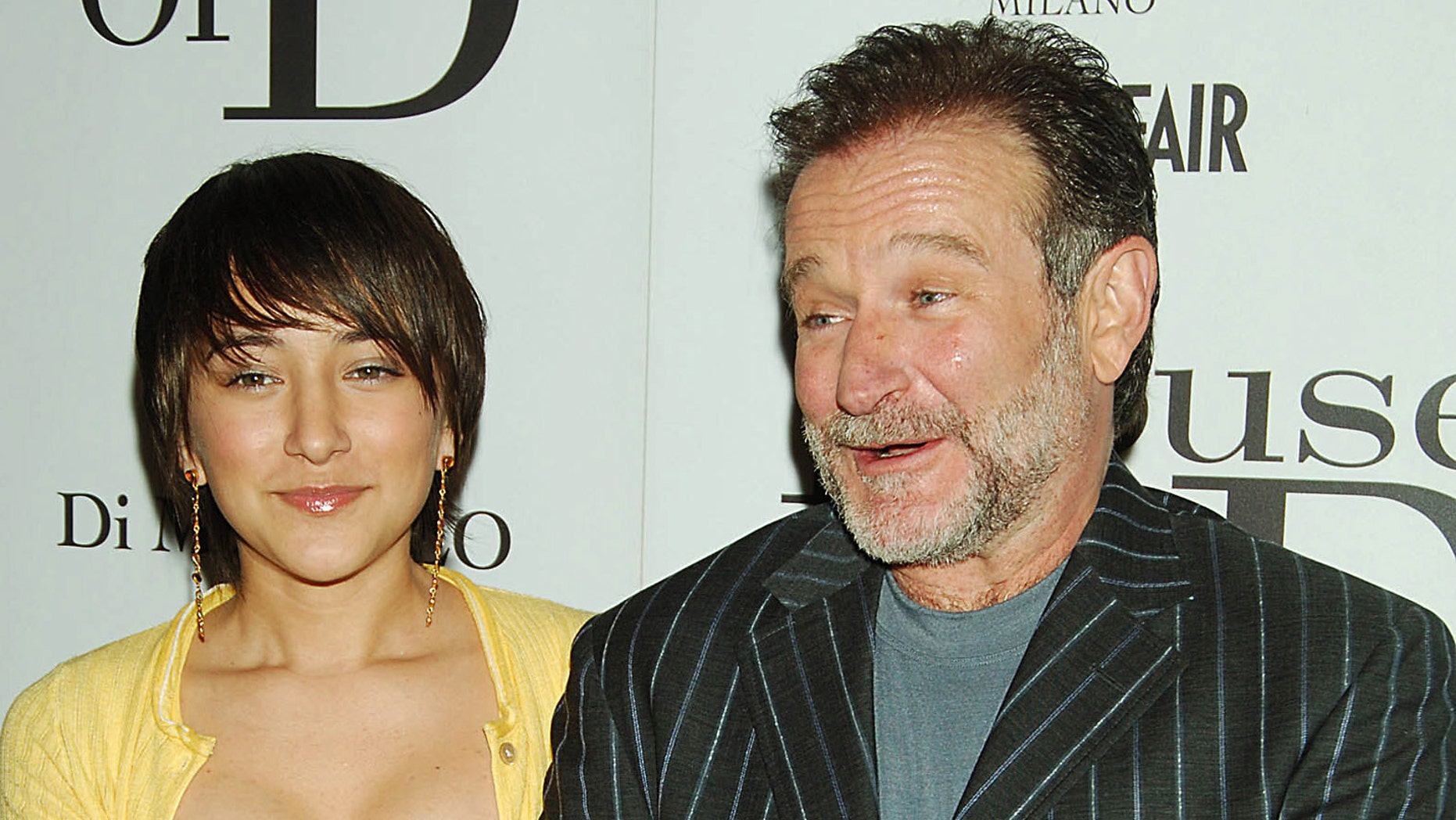 """Williams posed with his daughter Zelda Williams during the premiere of their film """"House of D"""" in 2005."""