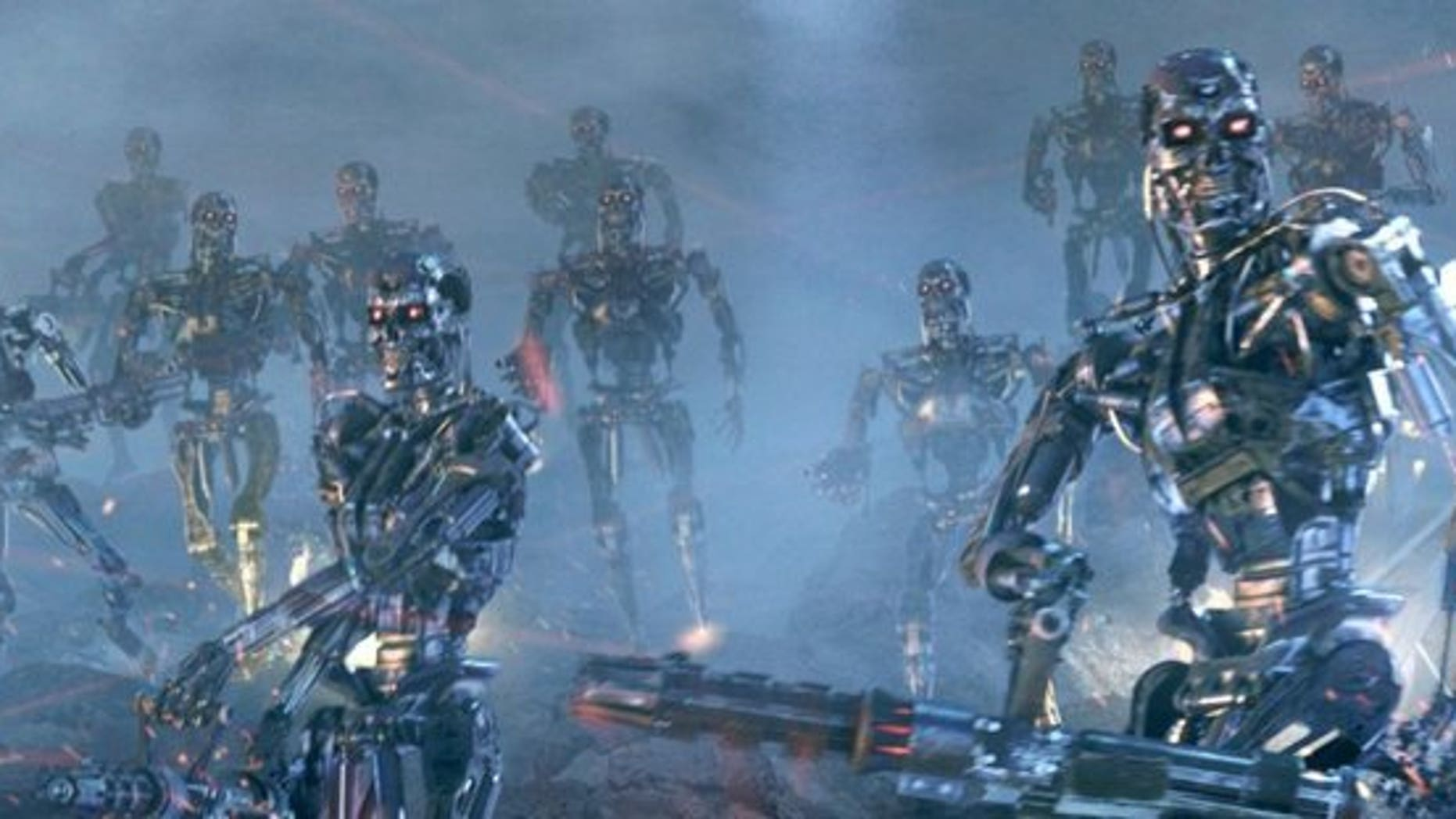 "Our terrifying nemeses in the coming war of man versus machine? Terminators on the rampage in ""Terminator 2: Judgement Day."""