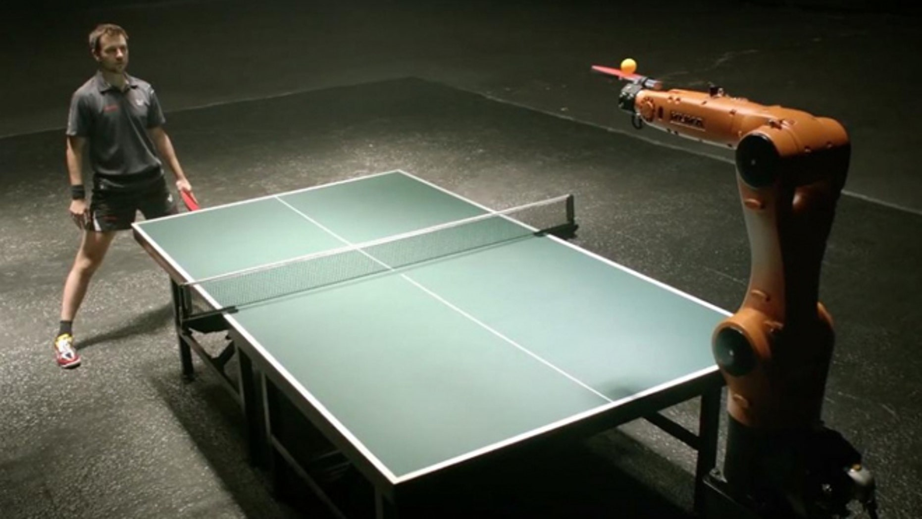 Agilus the robot has balls  albeit of the Ping-Pong variety  as next month it will go up against German table tennis pro Timo Boll.