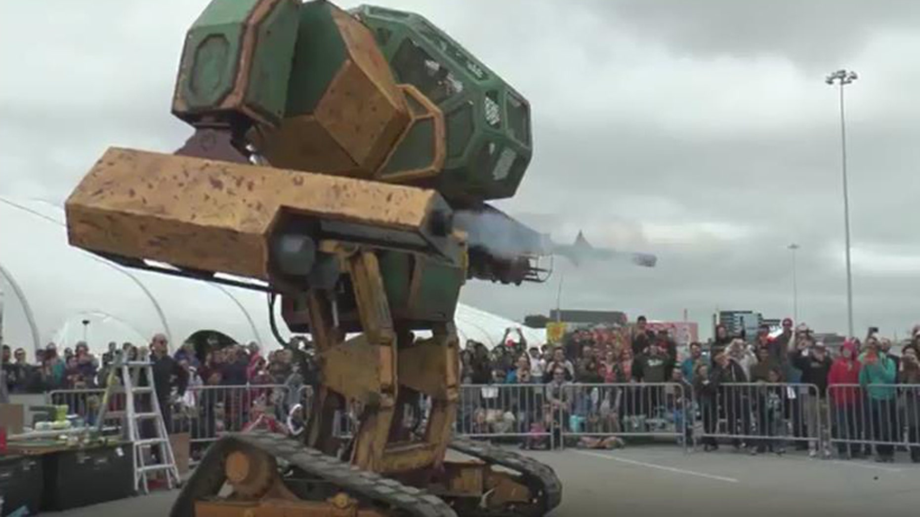 (Screenshot from MegaBots YouTube video)