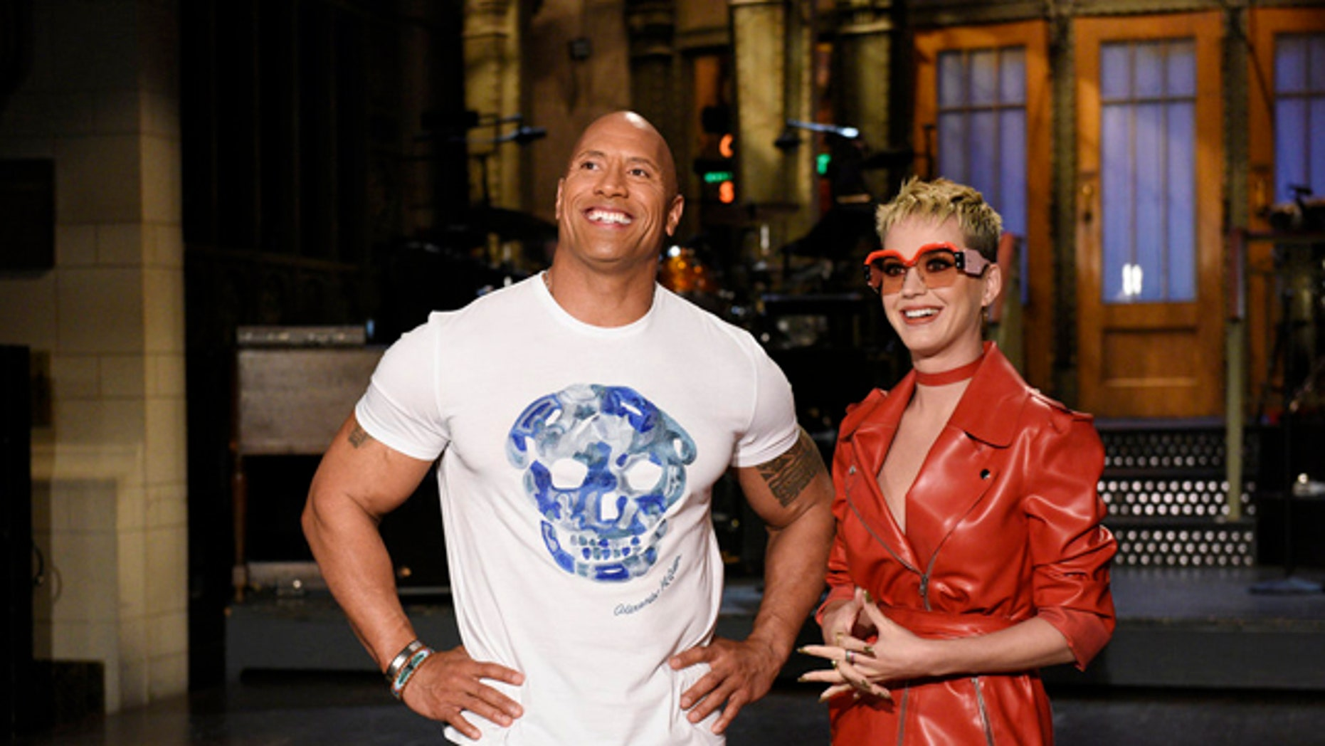 """Dwayne Johnson and Katy Perry appeared on the season finale of """"SNL."""""""