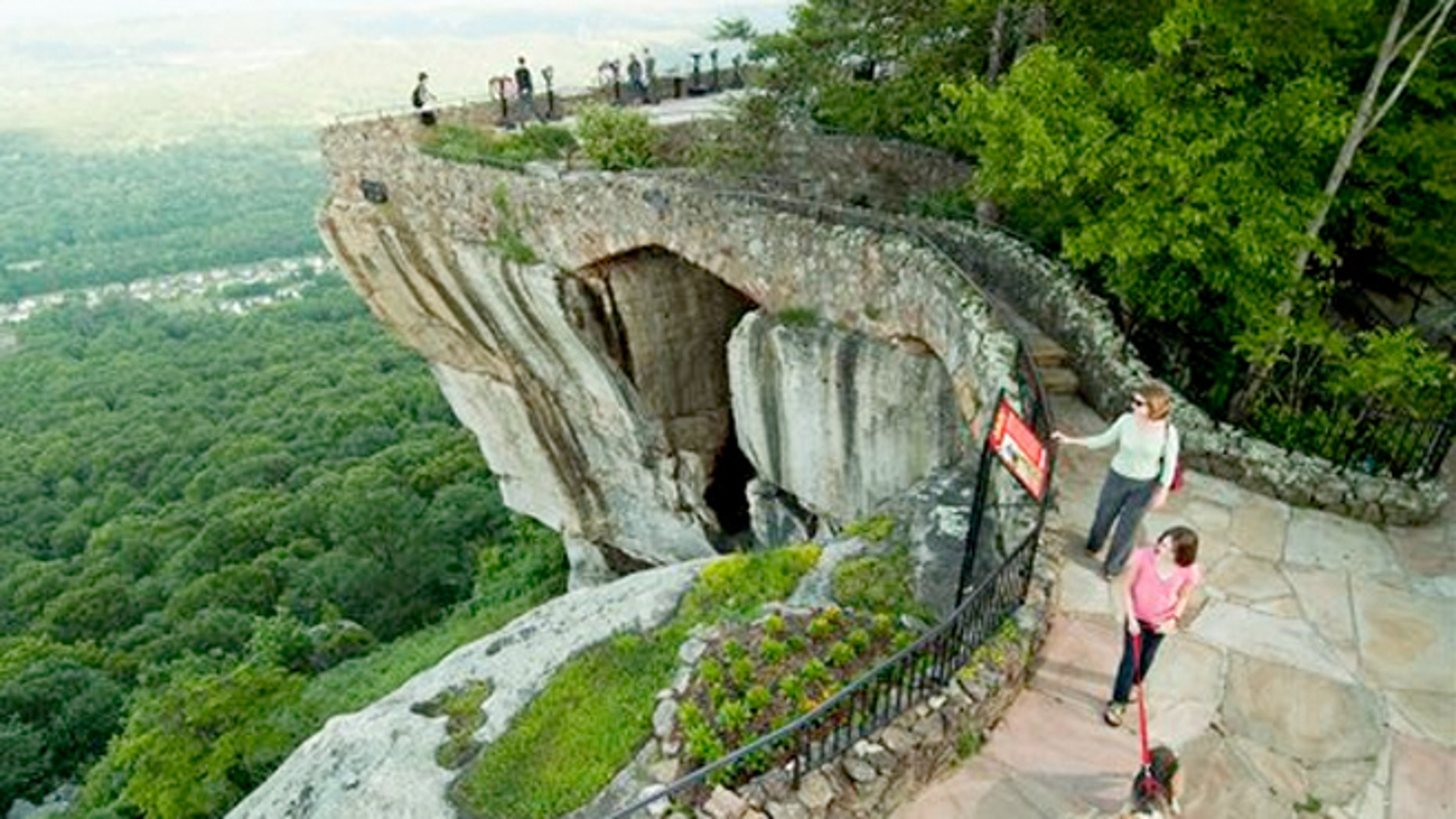 Lover's Leap, one of the well-known scenic spots along the Enchanted Trail.