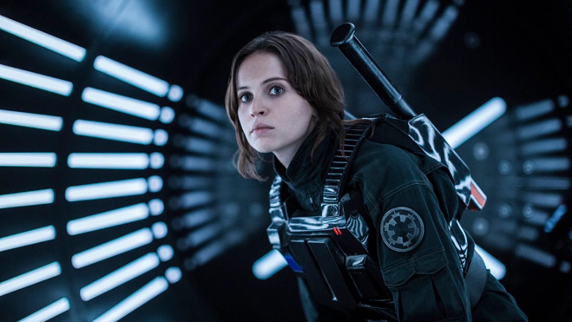 "Felicity Jones as Jyn Erso in ""Rogue One: A Star Wars Story."""
