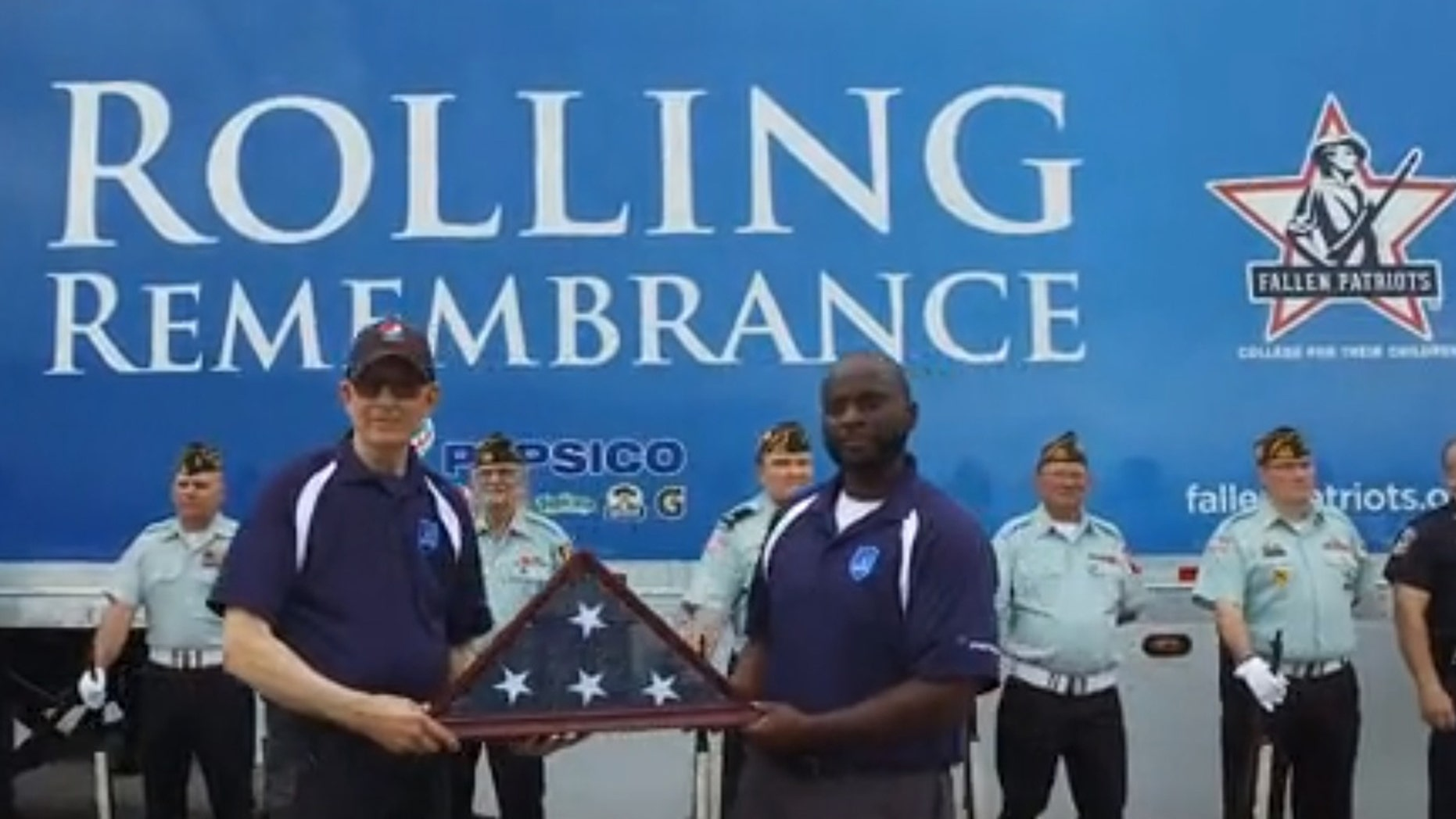 Rolling Remembrance, a partnership between PepsiCo and the Children of Fallen Patriots Foundation, had a ceremony in Bradenton, FL along the 8,000-mile cross-country relay to raise college scholarship funds for Gold Star children.