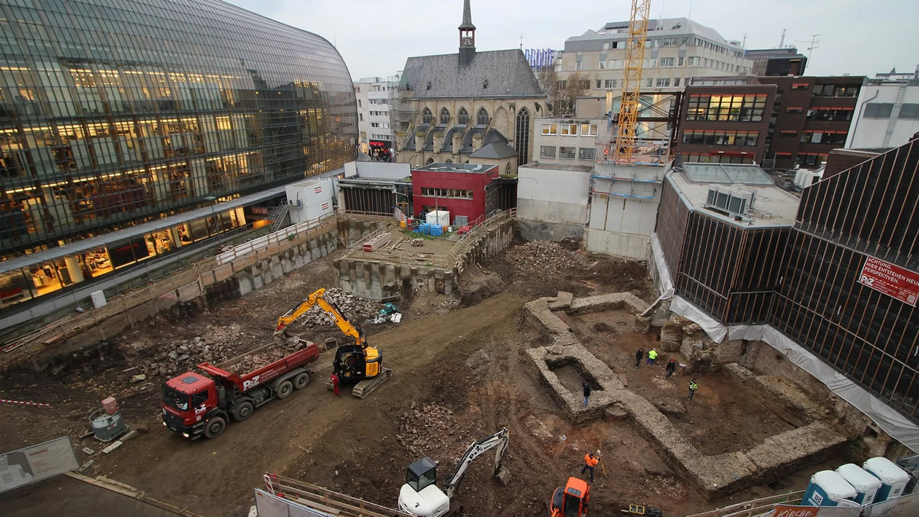 The excavation of the ancient library in Cologne, Germany. Credit: Roman-Germanic Museum of Cologne