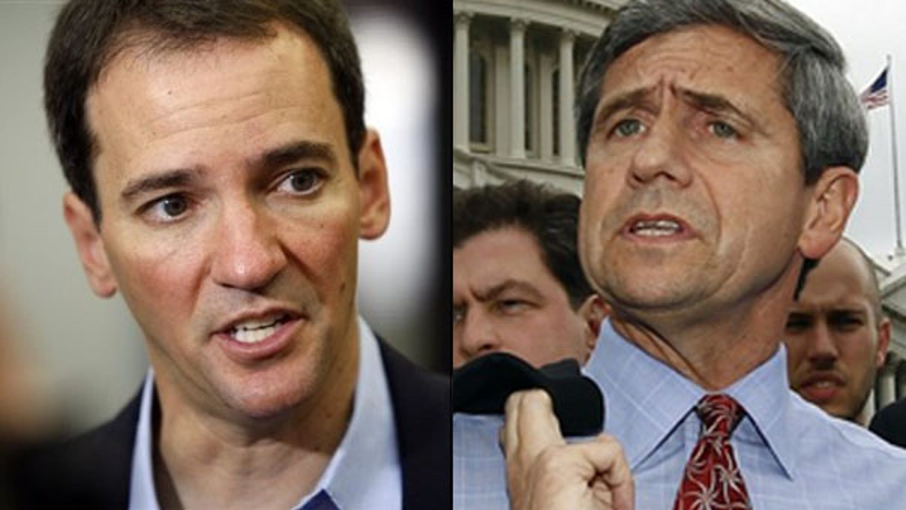 Shown here are Colorado Senate candidate Andrew Romanoff, left., and Pennsylvania Senate candidate Joe Sestak. (AP/Reuters Photos)