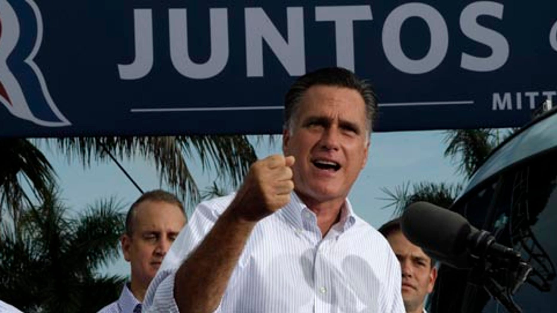 GOP presidential nominee Mitt Romney has said he is aiming for at least 38 percent of the Latino vote.